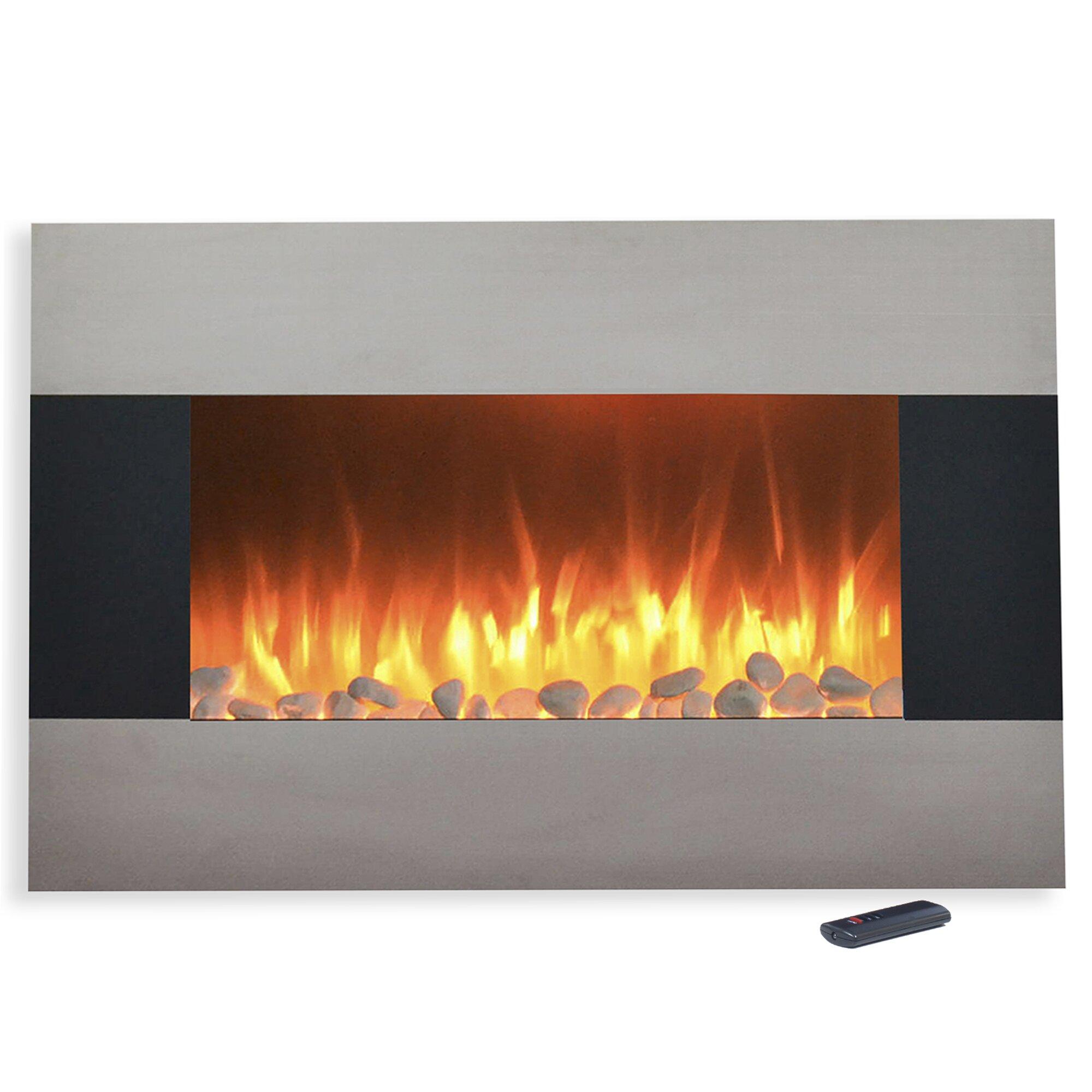 Northwest Steel Wall Mount Electric Fireplace Reviews Wayfair