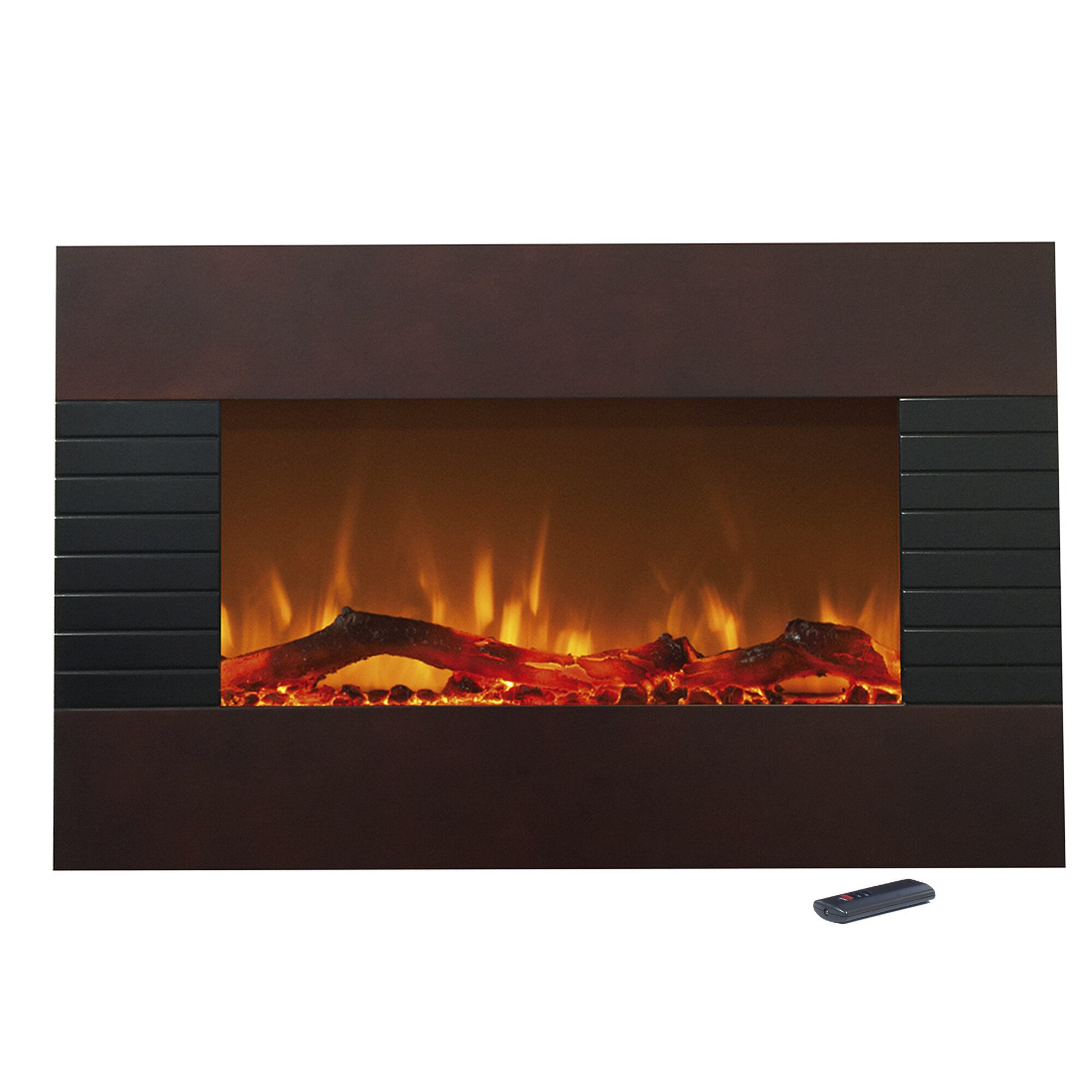 Northwest Mahogany Wall Mount Electric Fireplace Reviews Wayfair
