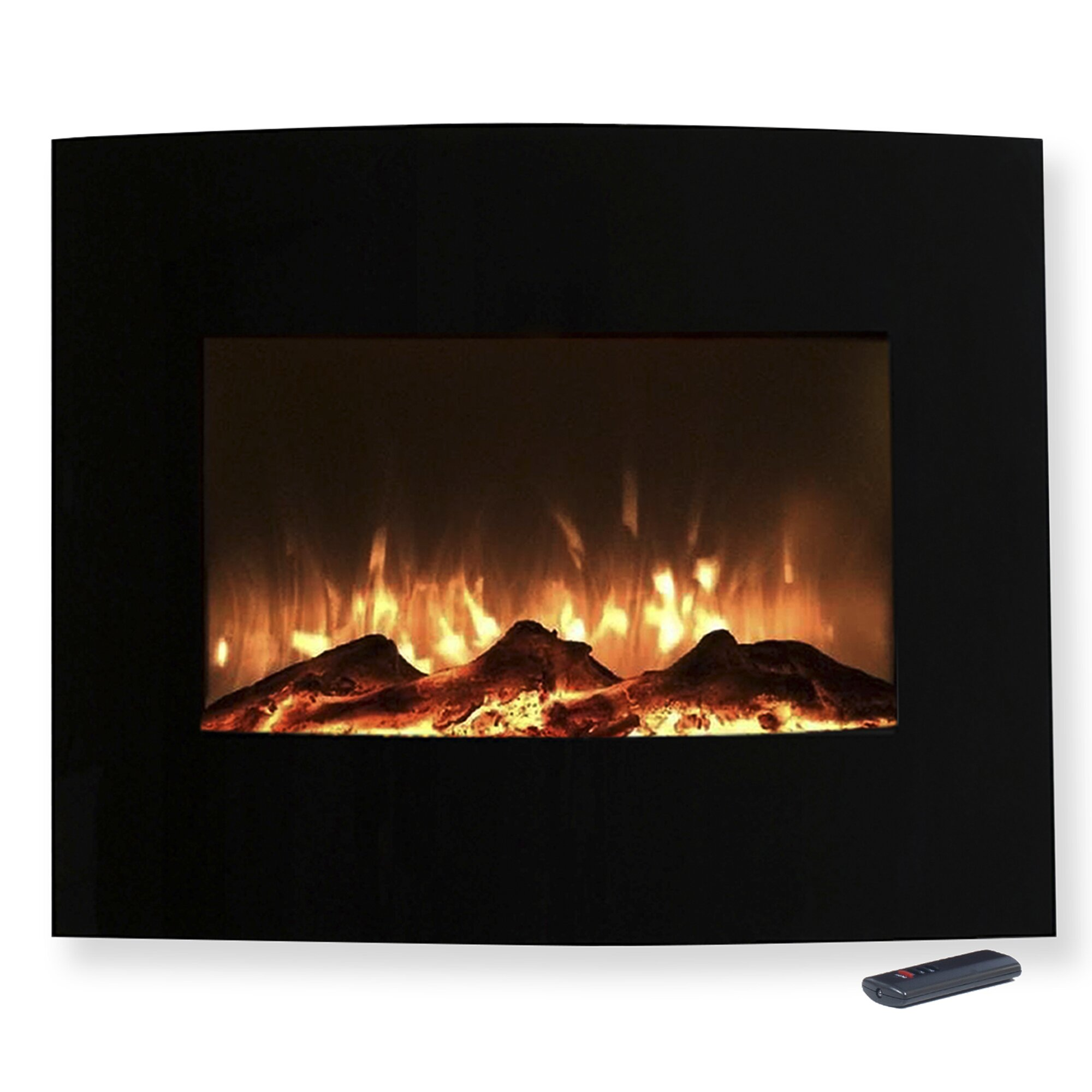 northwest curved wall mount electric fireplace reviews