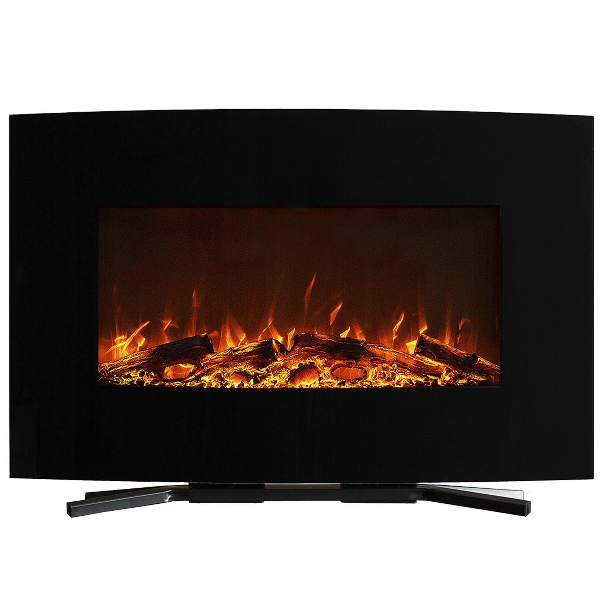 Northwest Curved Wall Mount Electric Fireplace Reviews Wayfair