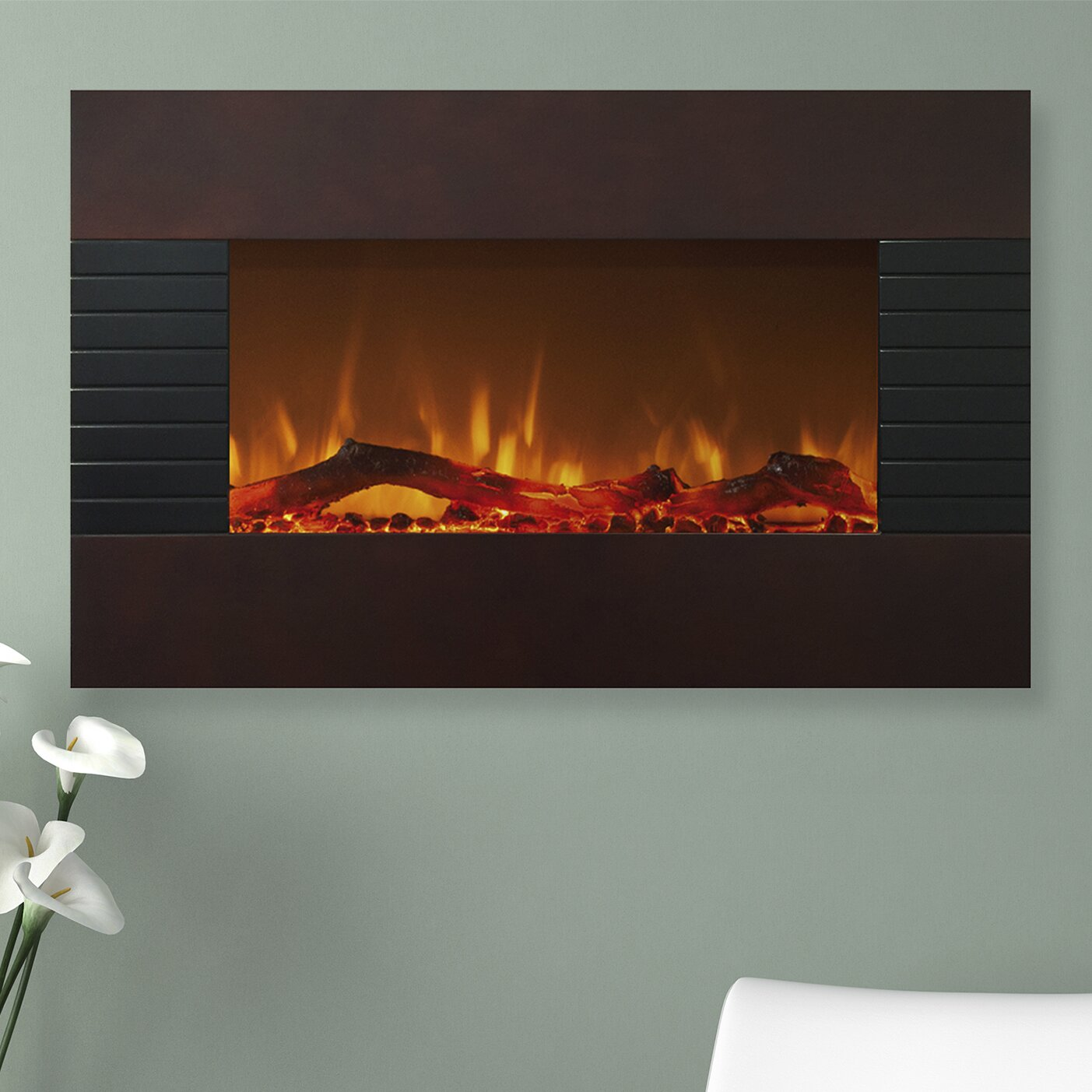 northwest mahogany wall mount electric fireplace reviews