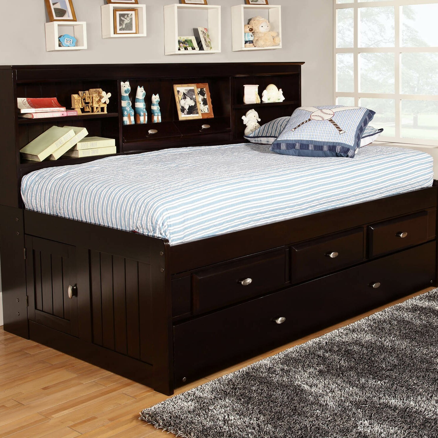 Discovery World Furniture Captain's Bed With Trundle