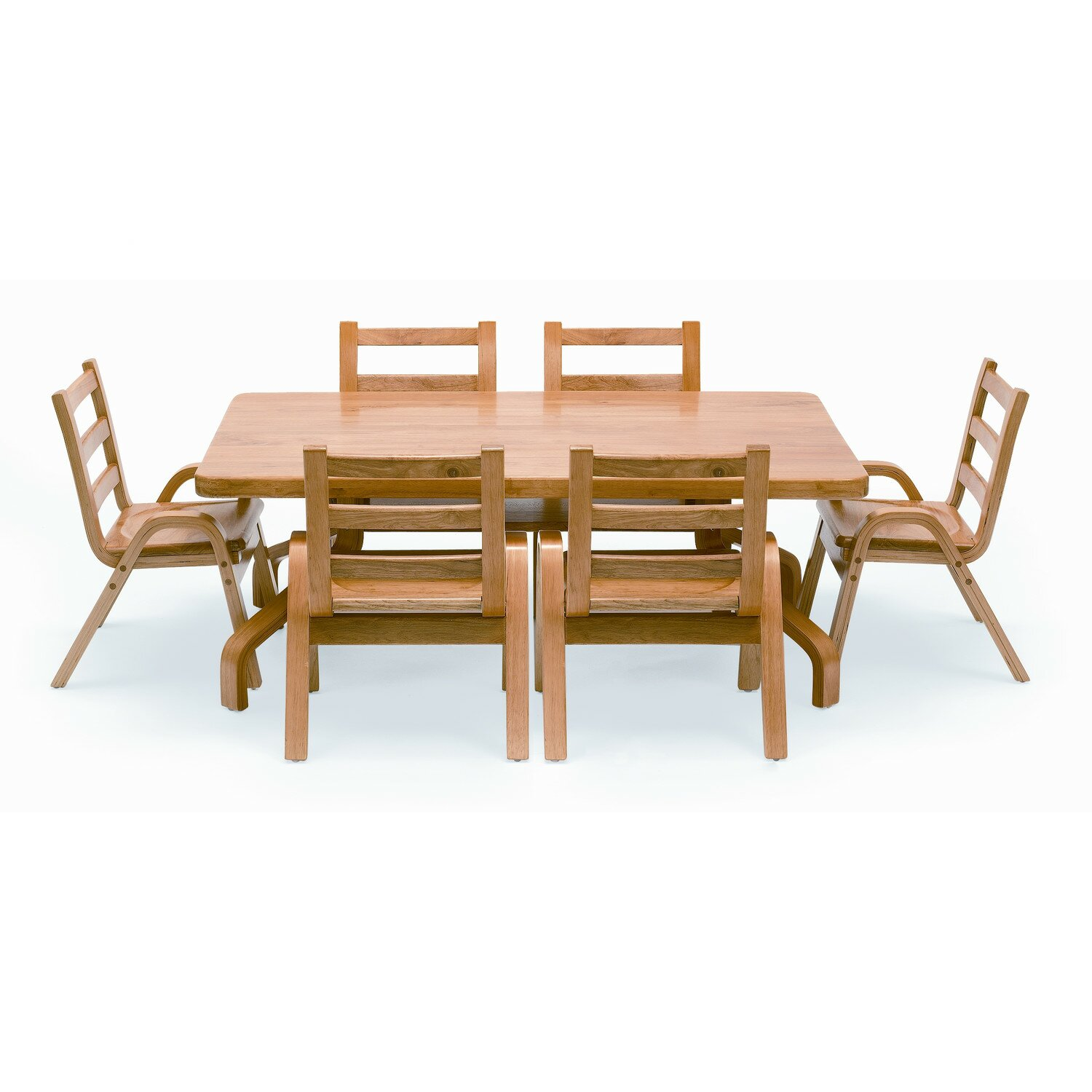 Angeles Naturalwood 20 Quot Rectangle Preschool Table And