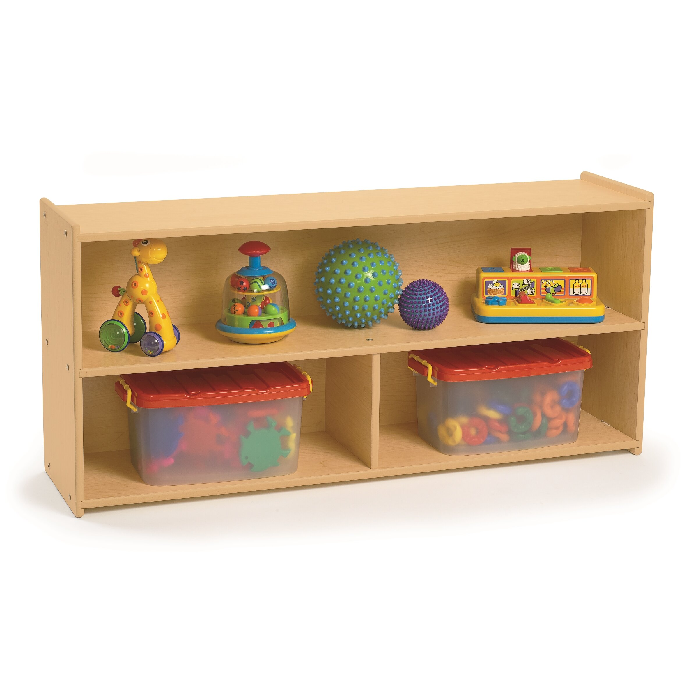 preschool bookshelf angeles value line preschool two shelf storage amp reviews 833