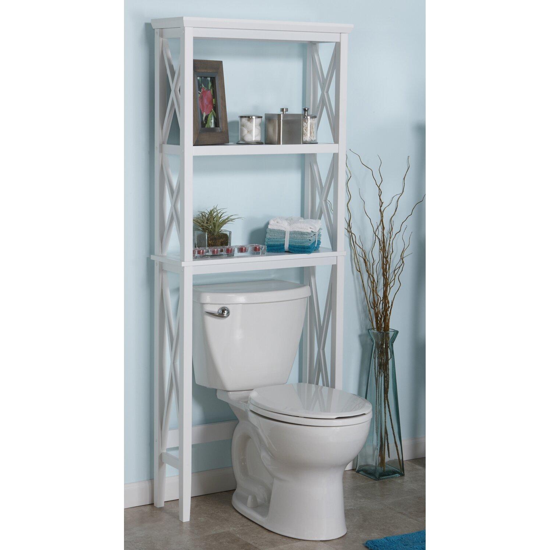 Riverridge home products x frame 26 x 64 bathroom shelf for Bathroom 00