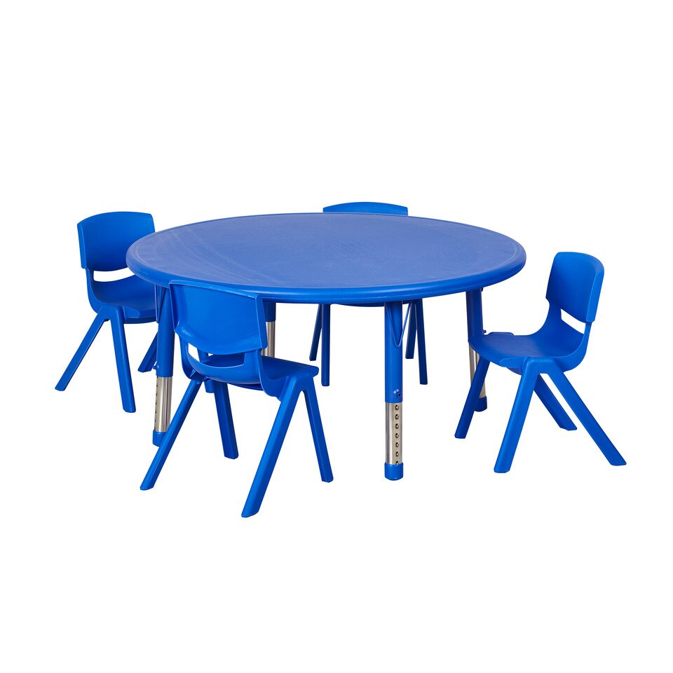 c6254ea8aed41 ECR4kids 5 Piece Round Activity Table  amp  Chair Set