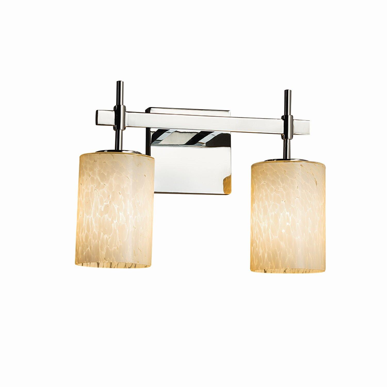 Justice design group fusion union 2 light vanity light wayfair - Justice design group bathroom lighting ...