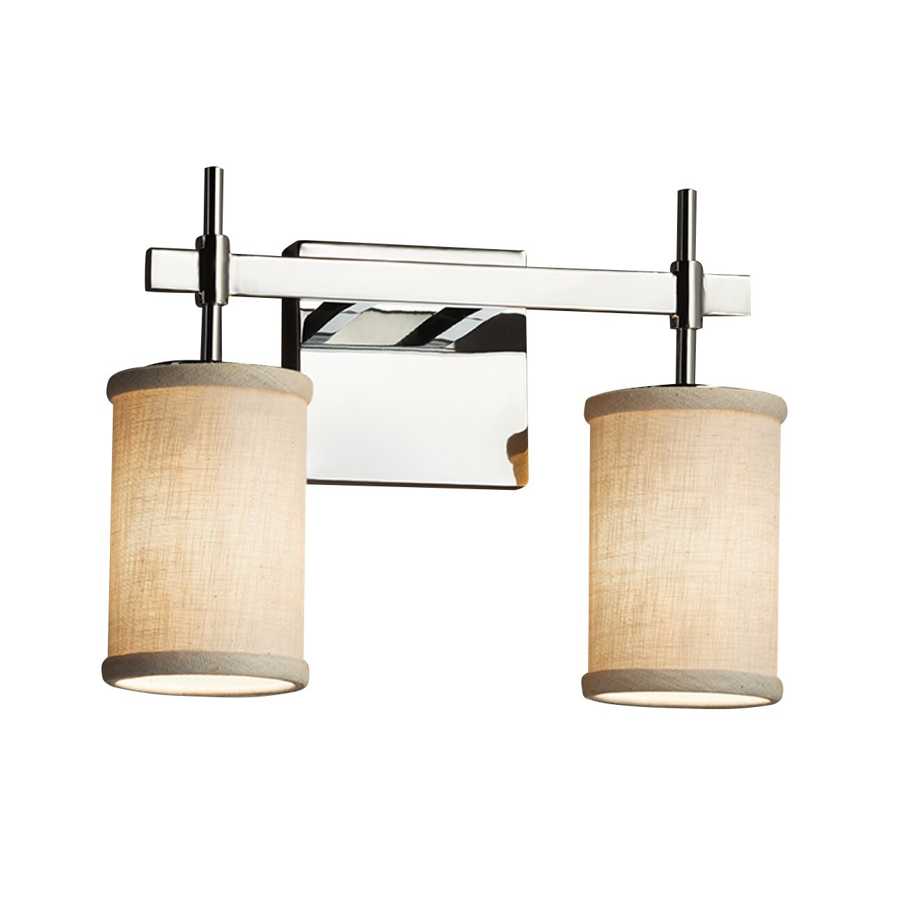 justice design group bathroom lighting justice design textile 2 light vanity light wayfair 23570