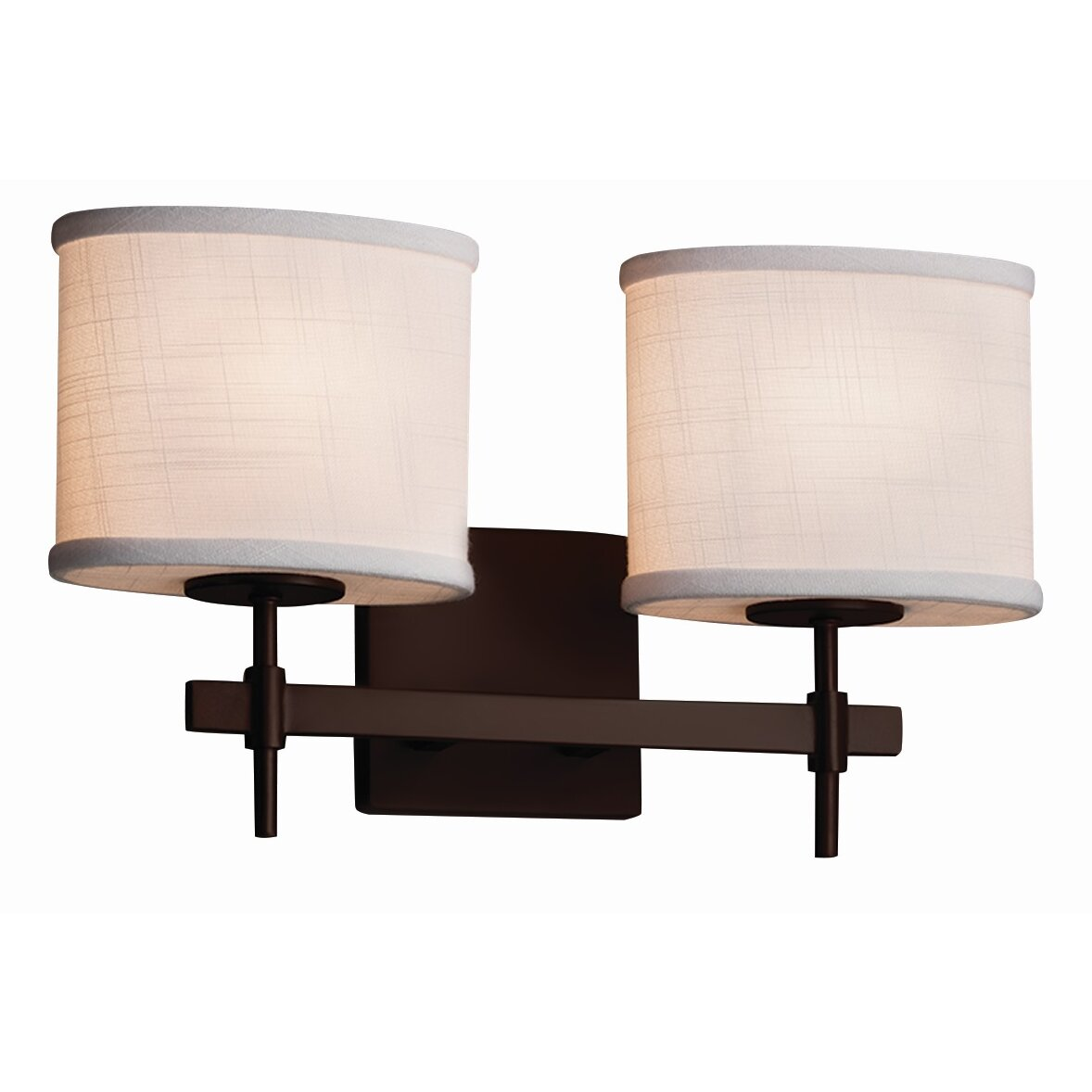 Justice Vanity Lights : Justice Design Group Textile 2 Light Vanity Light & Reviews Wayfair
