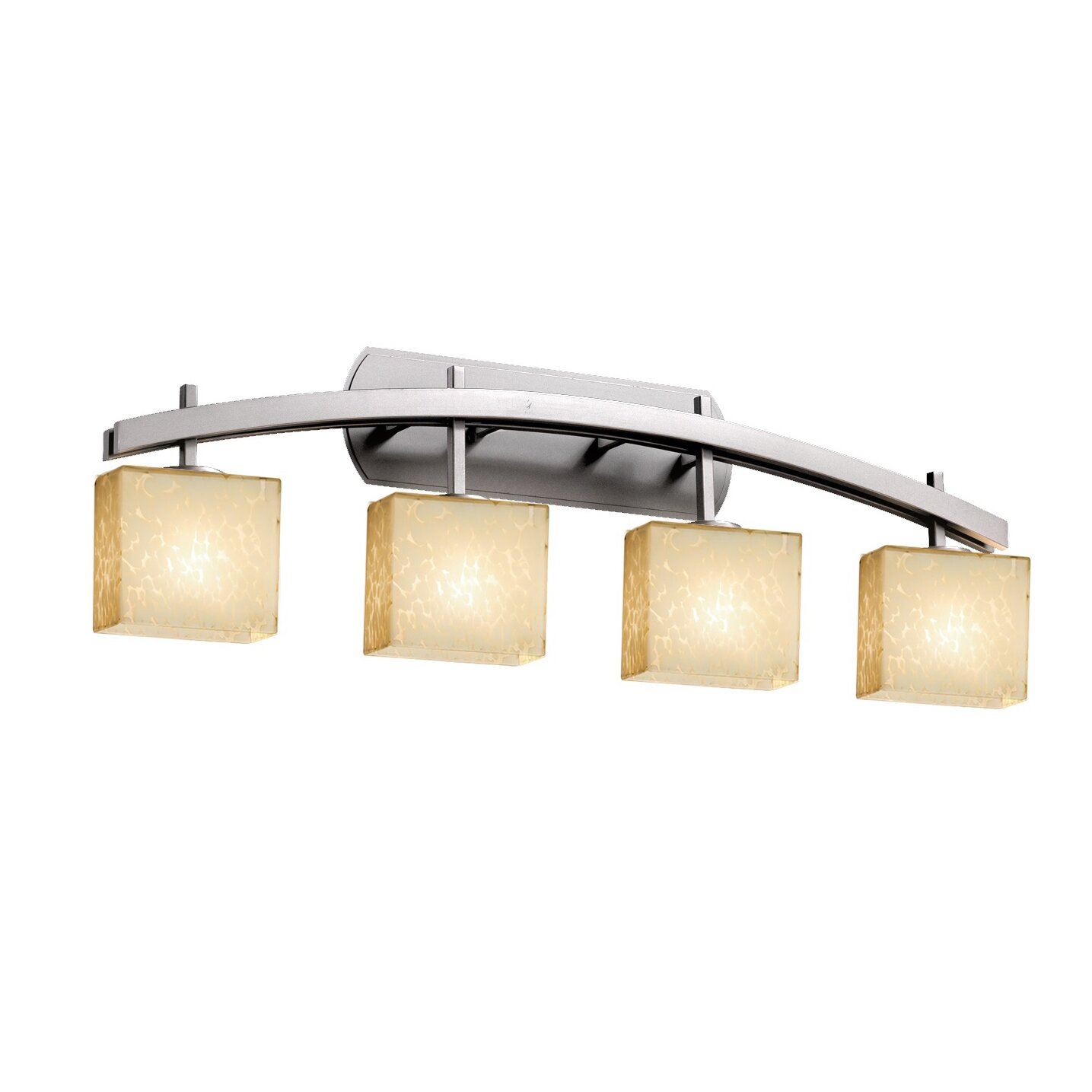 Justice Vanity Lights : Justice Design Group Fusion Archway 4 Light Vanity Light Wayfair