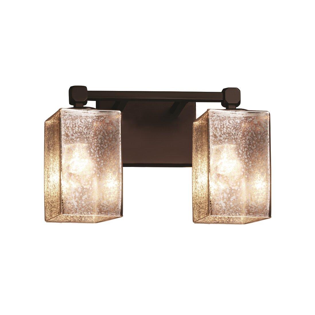 Justice design group fusion tetra 2 light vanity light reviews wayfair - Justice design group bathroom lighting ...