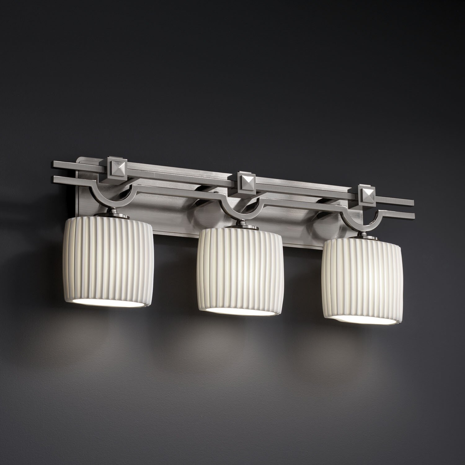 Justice Vanity Lights : Justice Design Group Limoges Argyle 3 Light Vanity Light & Reviews Wayfair