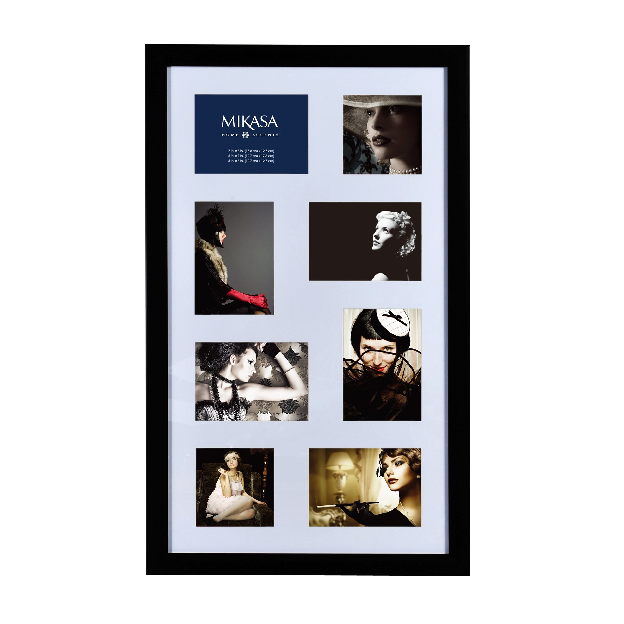 mikasa 8 opening collage picture frame wayfair. Black Bedroom Furniture Sets. Home Design Ideas
