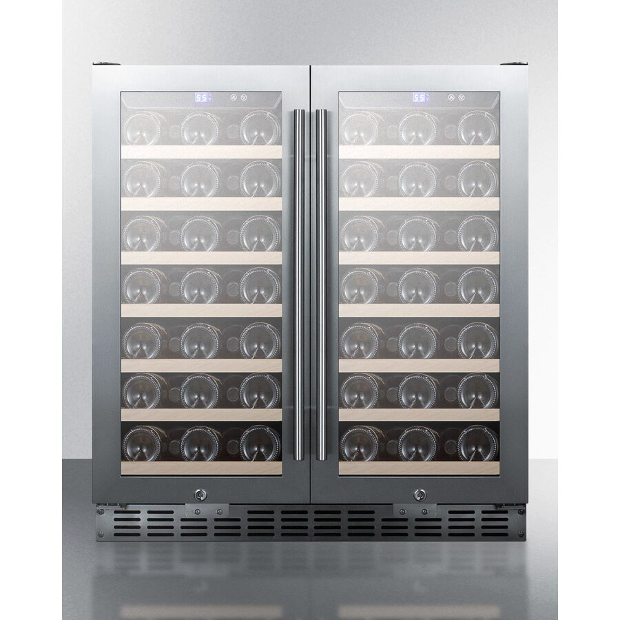 Summit Appliance 70 Bottle Dual Zone Built In And