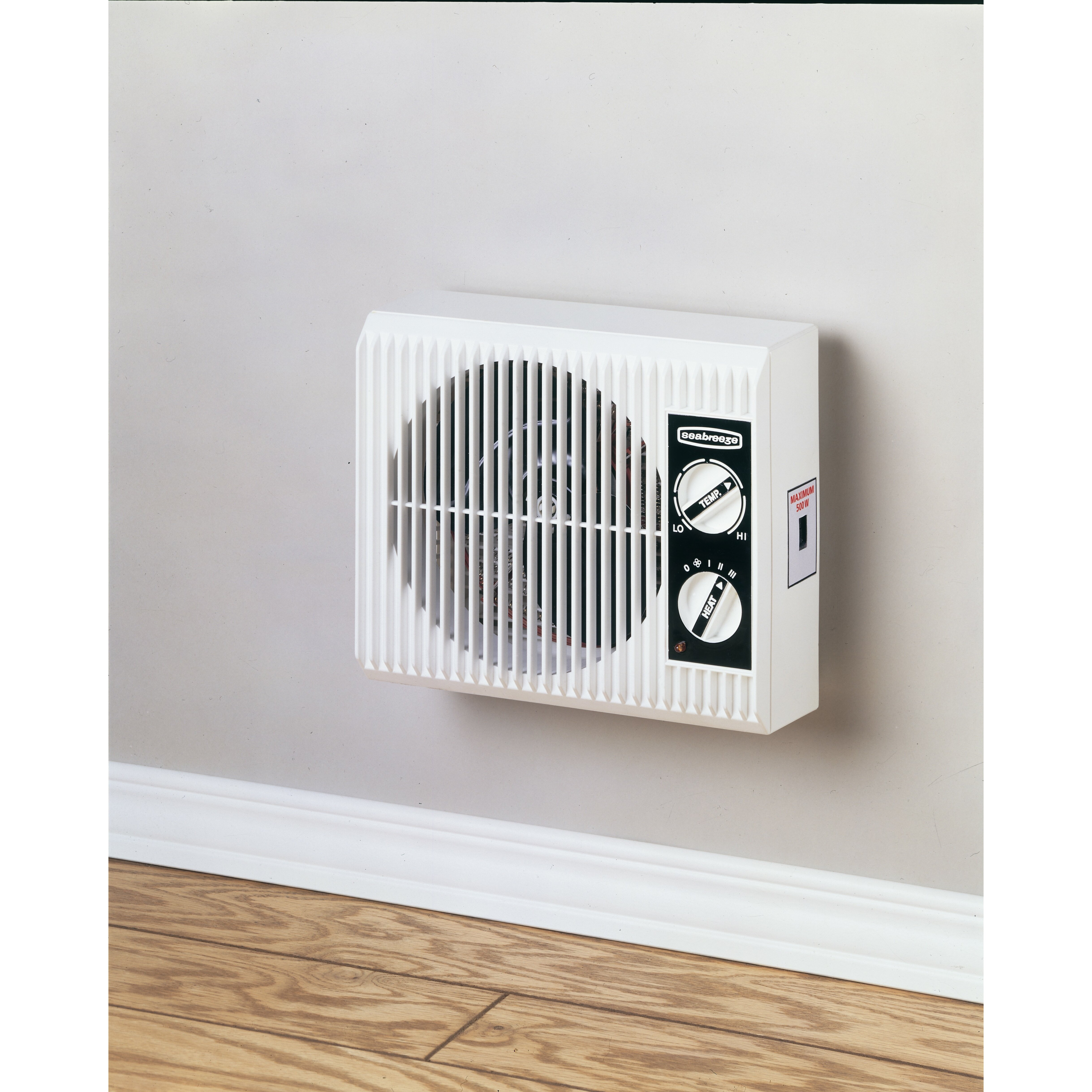 Seabreeze electric off the wall bed bathroom heater reviews wayfair for Electric bathroom wall heaters