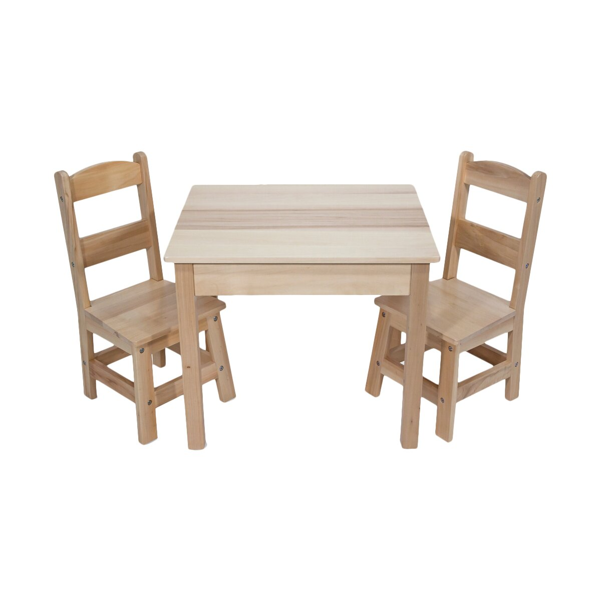melissa doug 3 piece wooden table and chairs set reviews wayfair. Black Bedroom Furniture Sets. Home Design Ideas