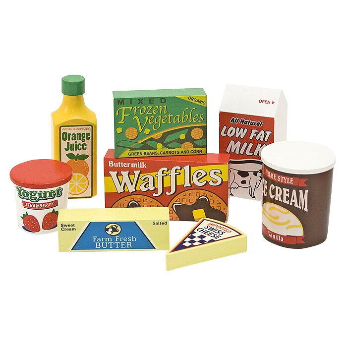 Melissa Doug 8 Piece Fridge Food Set Reviews Wayfair