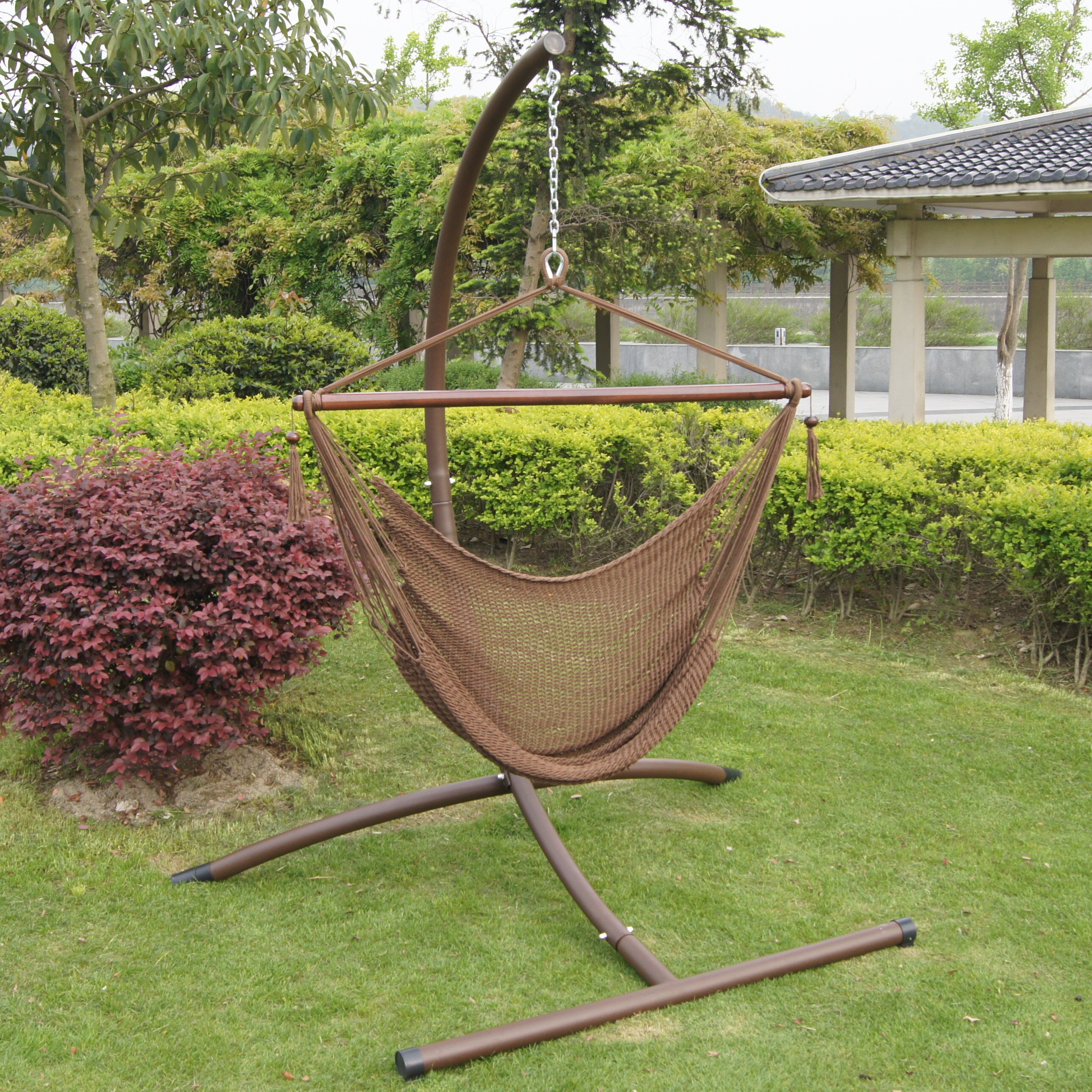 hammock chair with stand set buyers choice deluxe hammock chair and steel stand set reviews wayfair hammock chair with stand set   28 images   sunbrella hanging chair      rh   screensinthewild org