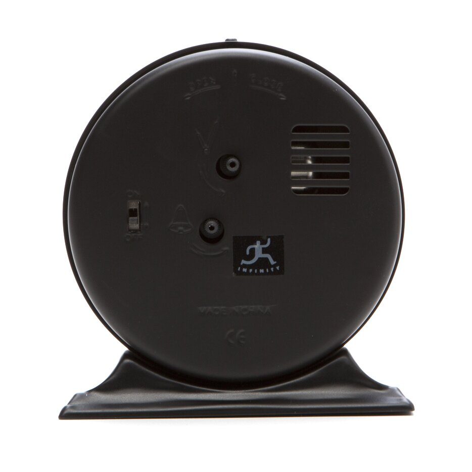 infinity instruments antique look metal alarm clock. Black Bedroom Furniture Sets. Home Design Ideas