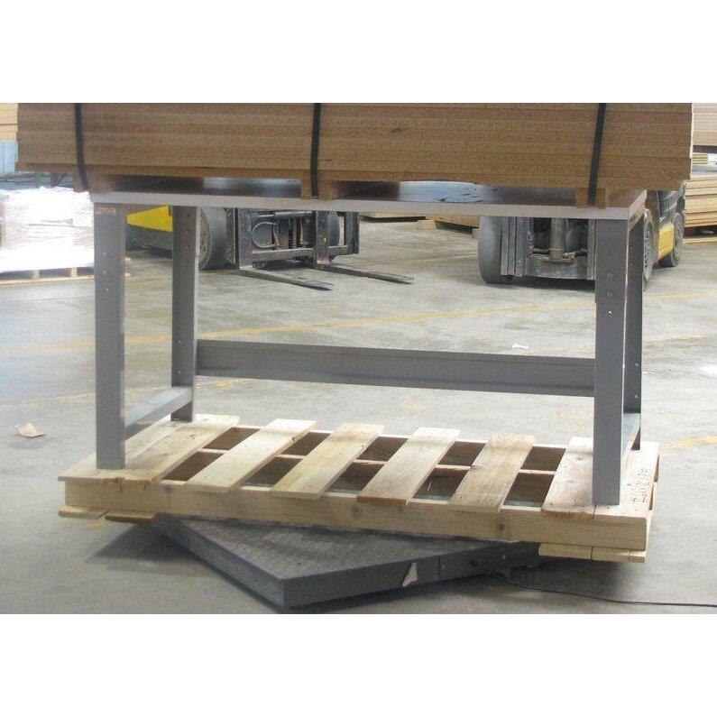 Bench Pro Roosevelt Height Adjustable Hardwood Butcher Block Top Workbench