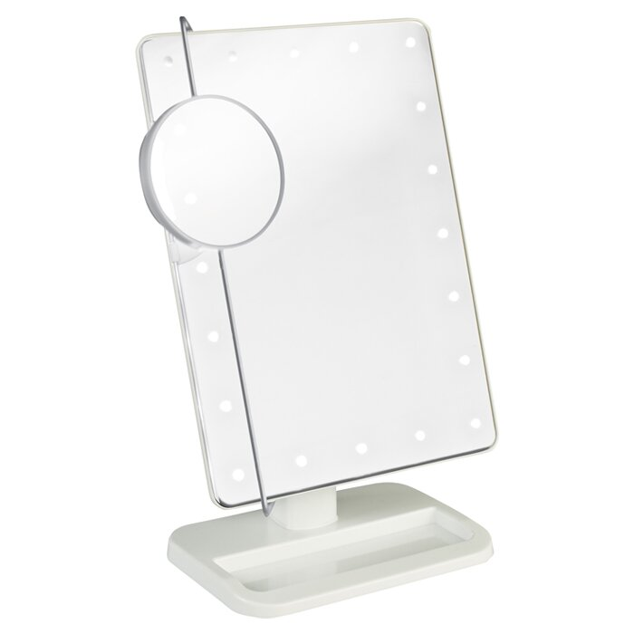 Jerdon Portable Led Lighted Tabletop Makeup Mirror