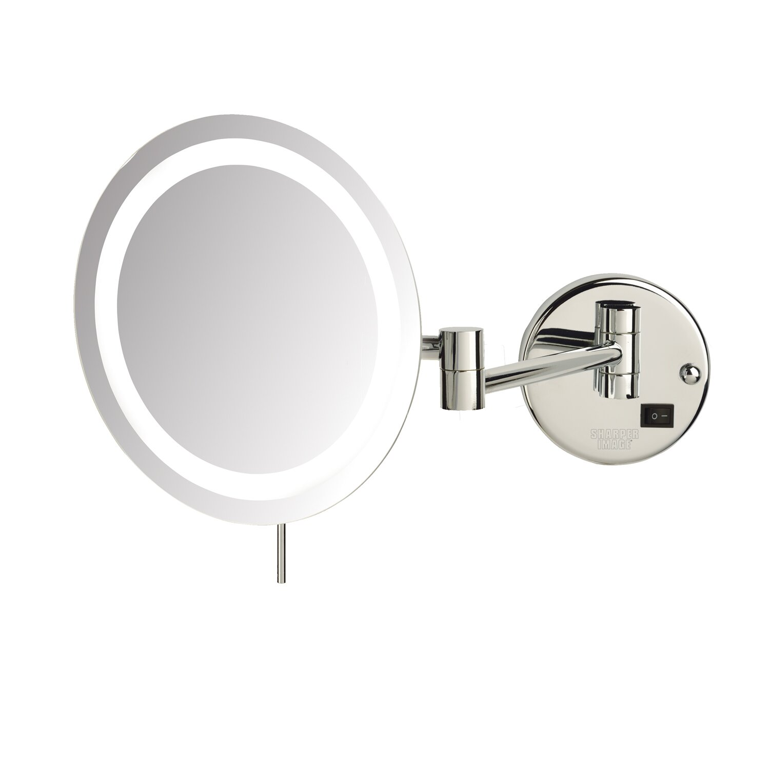 Wall mounted makeup mirror with lights - Wall Mounted Lighted Makeup Mirror Reviews Jerdon Led 8x Magnifying Wall Mount Makeup Mirror Wall