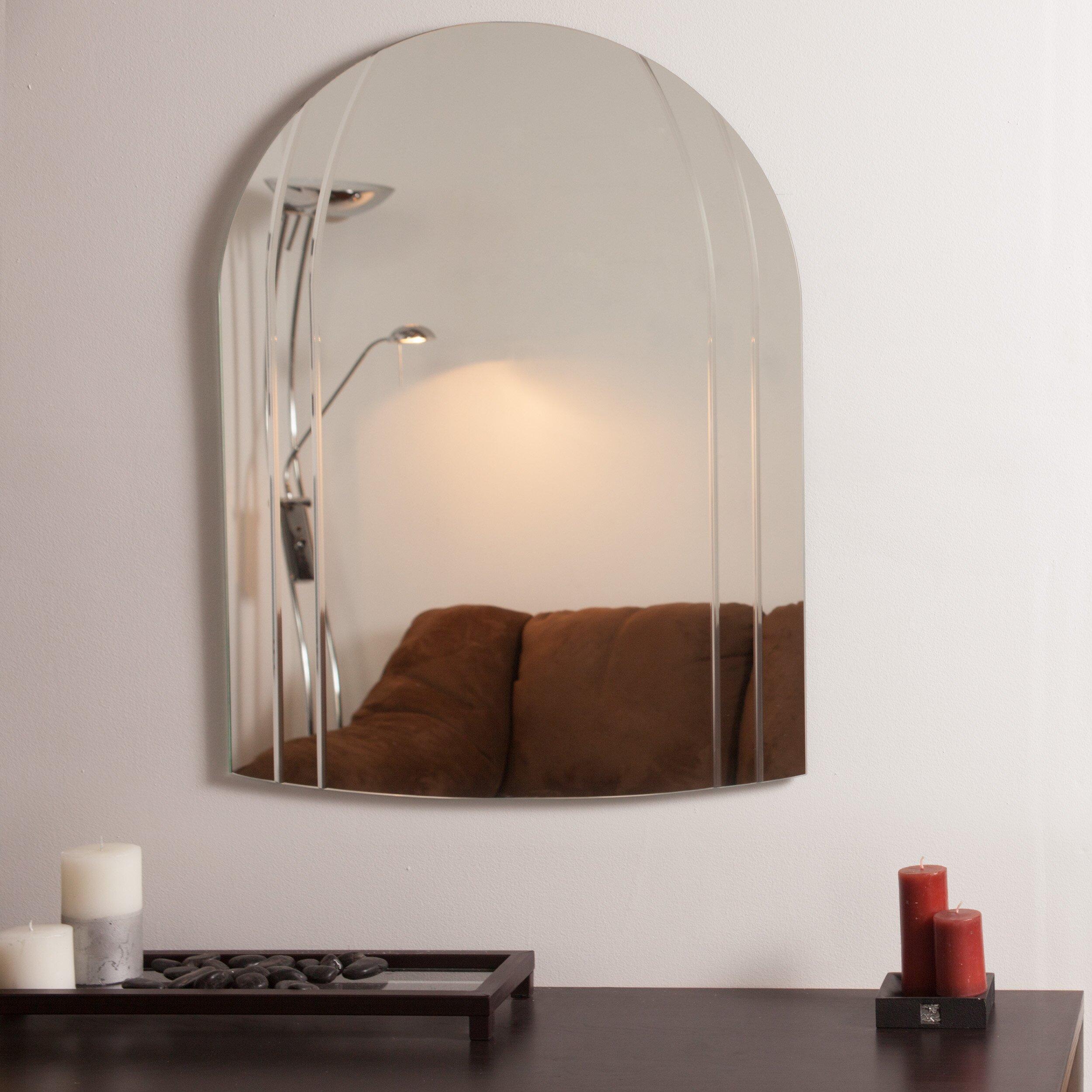 Decor wonderland serina modern wall mirror reviews wayfair for Modern wall mirror
