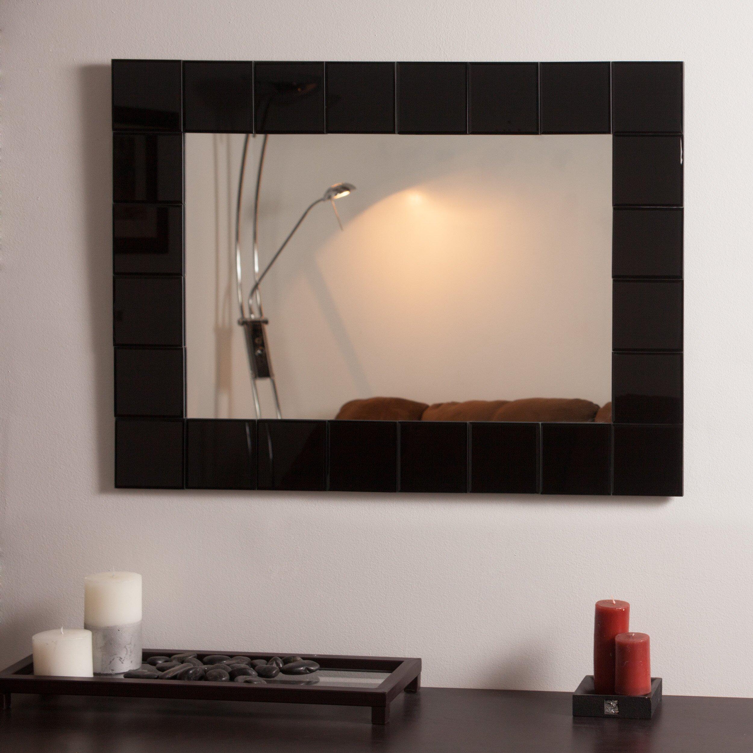 Decor wonderland montreal modern wall mirror reviews for Modern wall mirror
