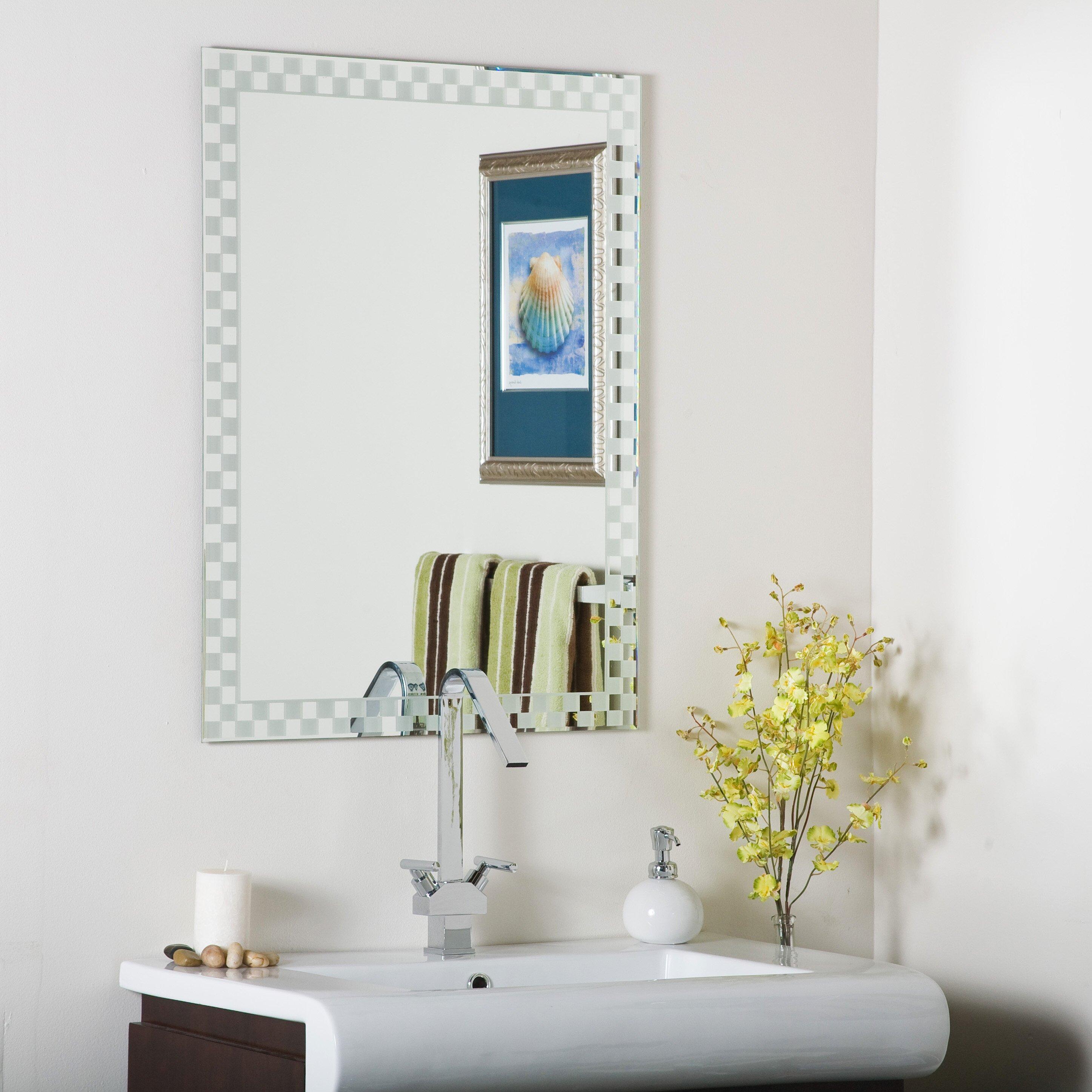 decor wonderland frameless liana wall mirror reviews wayfair. Black Bedroom Furniture Sets. Home Design Ideas