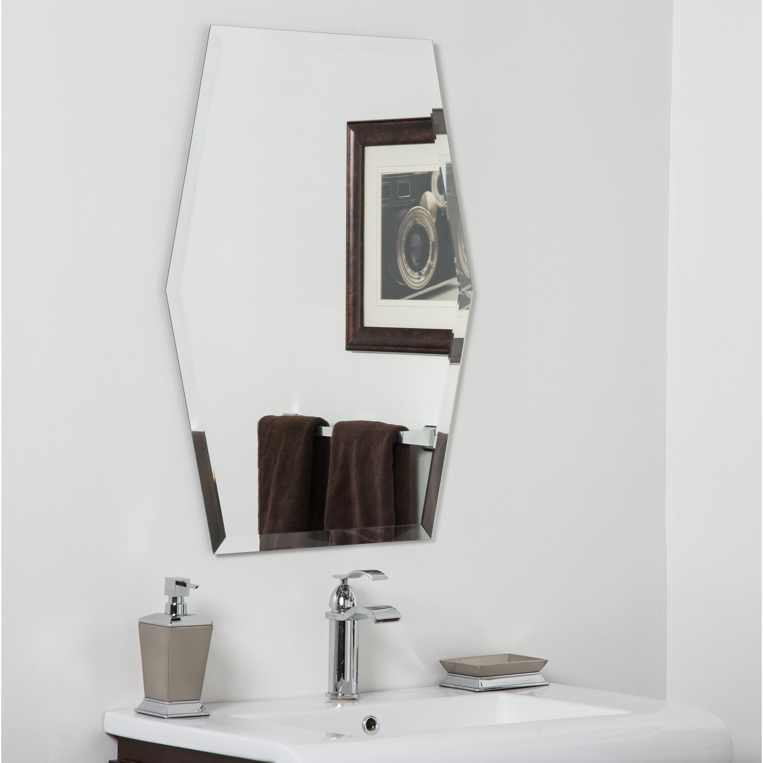 Decor wonderland century bathroom wall mirror wayfair for Decorative wall mirrors for bathrooms