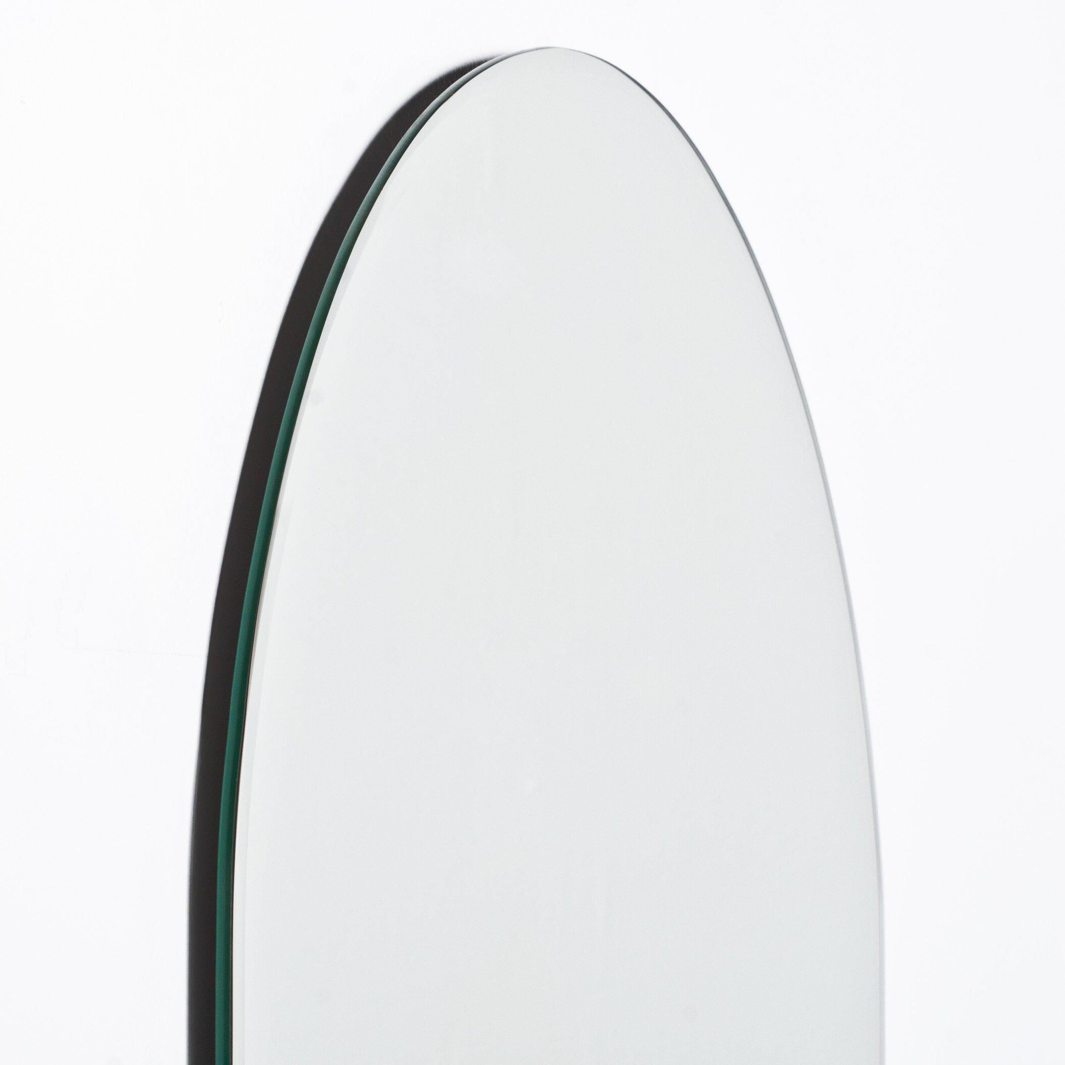 Decor wonderland khloe modern wall mirror reviews wayfair for Modern wall mirror