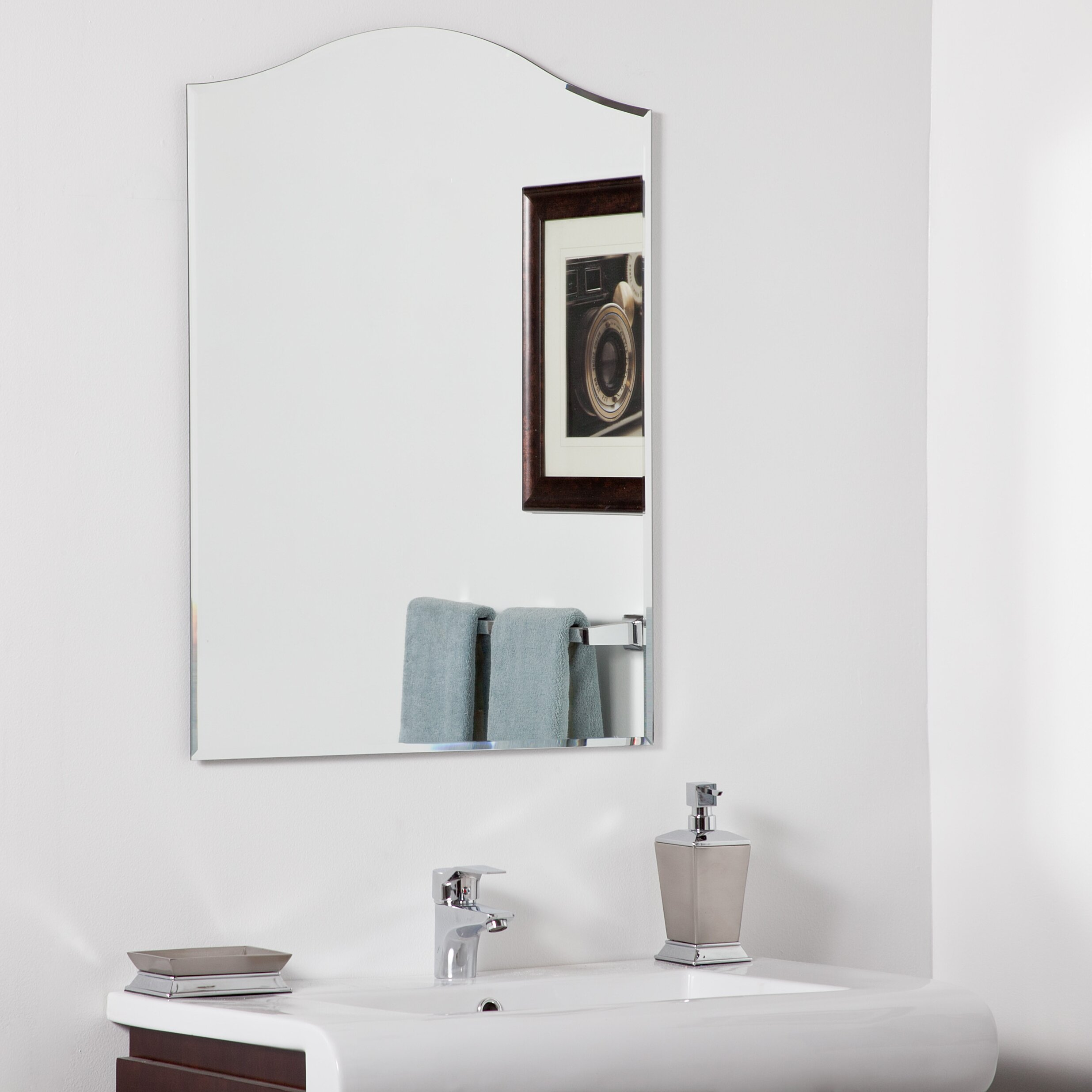 marvelous decor wonderland amelia modern bathroom mirror | Decor Wonderland Amelia Modern Wall Mirror & Reviews | Wayfair