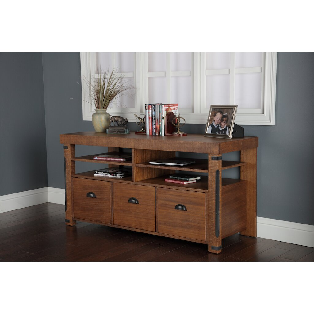 American Furniture Classics Industrial TV Stand amp Reviews  : Industrial Style Credenza Console 60 Inches Wide with 3 Full Extension File Drawers and Two Adjustable Removable Shelves 33222K from www.wayfair.com size 1024 x 1024 jpeg 150kB