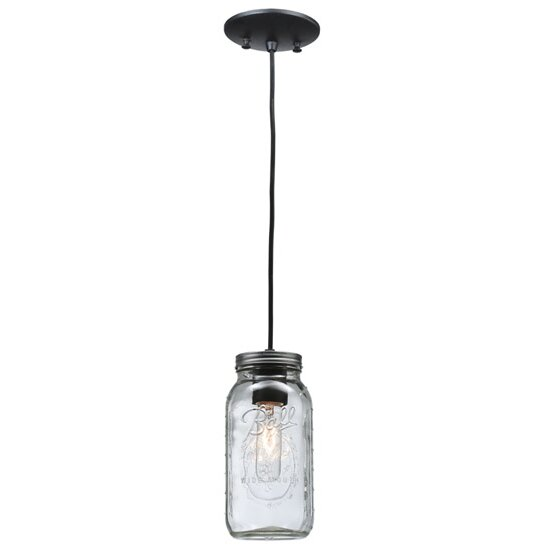 Stargaze Set Of 2 Hanging Mason Jar Pendant Lights By: Meyda Tiffany Mason Jar 1 Light Mini Pendant