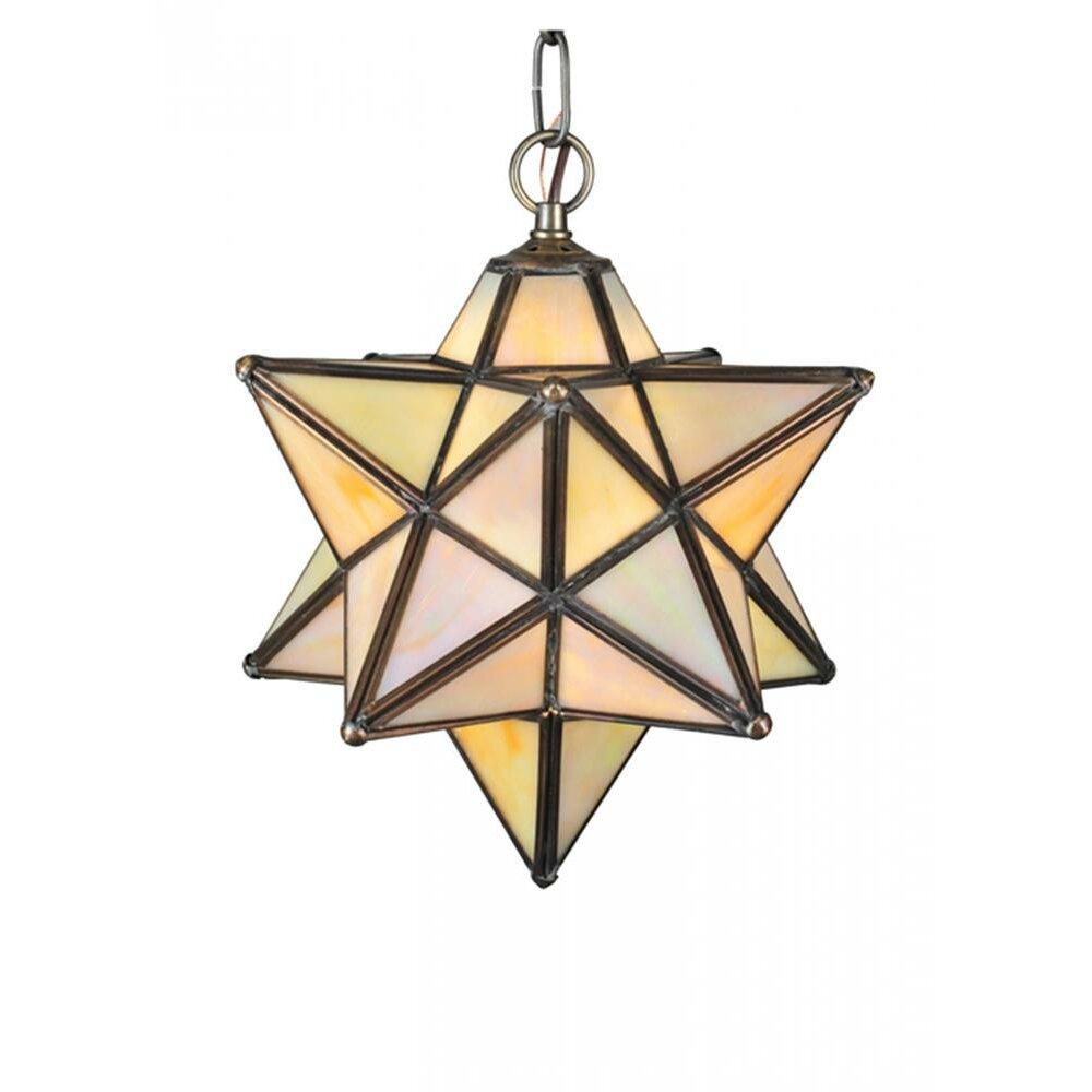 meyda tiffany moravian star 1 light mini pendant reviews wayfair. Black Bedroom Furniture Sets. Home Design Ideas
