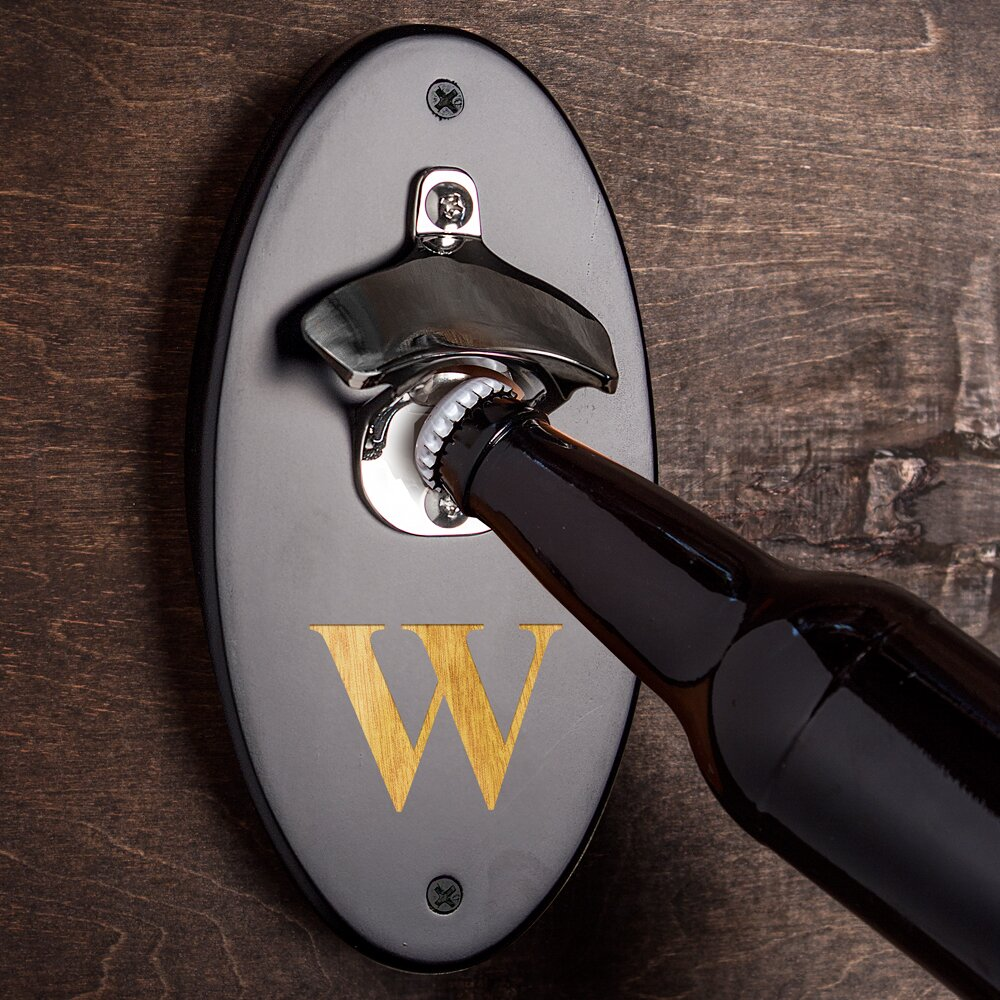 Cathys concepts personalized wall mounted bottle opener reviews wayfair - Personalized wall mount bottle opener ...