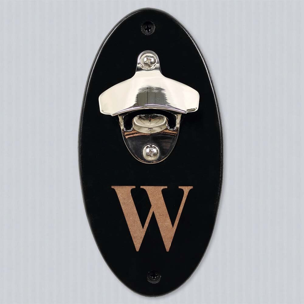 cathys concepts personalized wall mounted bottle opener reviews wayfair. Black Bedroom Furniture Sets. Home Design Ideas