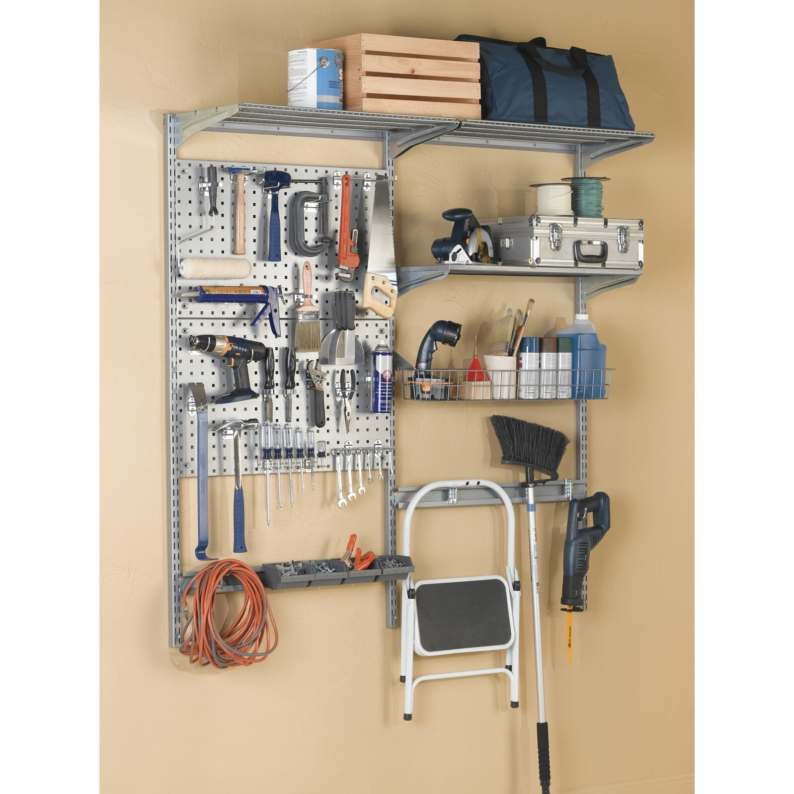 Garage wall tool holder magnetic wall paint tool organizers .