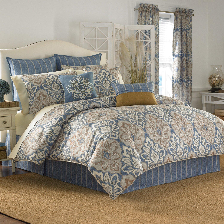 Croscill captain 39 s quarters curtain panel reviews wayfair - Bedroom comforter and curtain sets ...