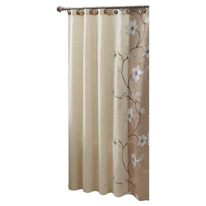 Curtains for bathroom window in shower - Croscill Magnolia Shower Curtain Amp Reviews Wayfair