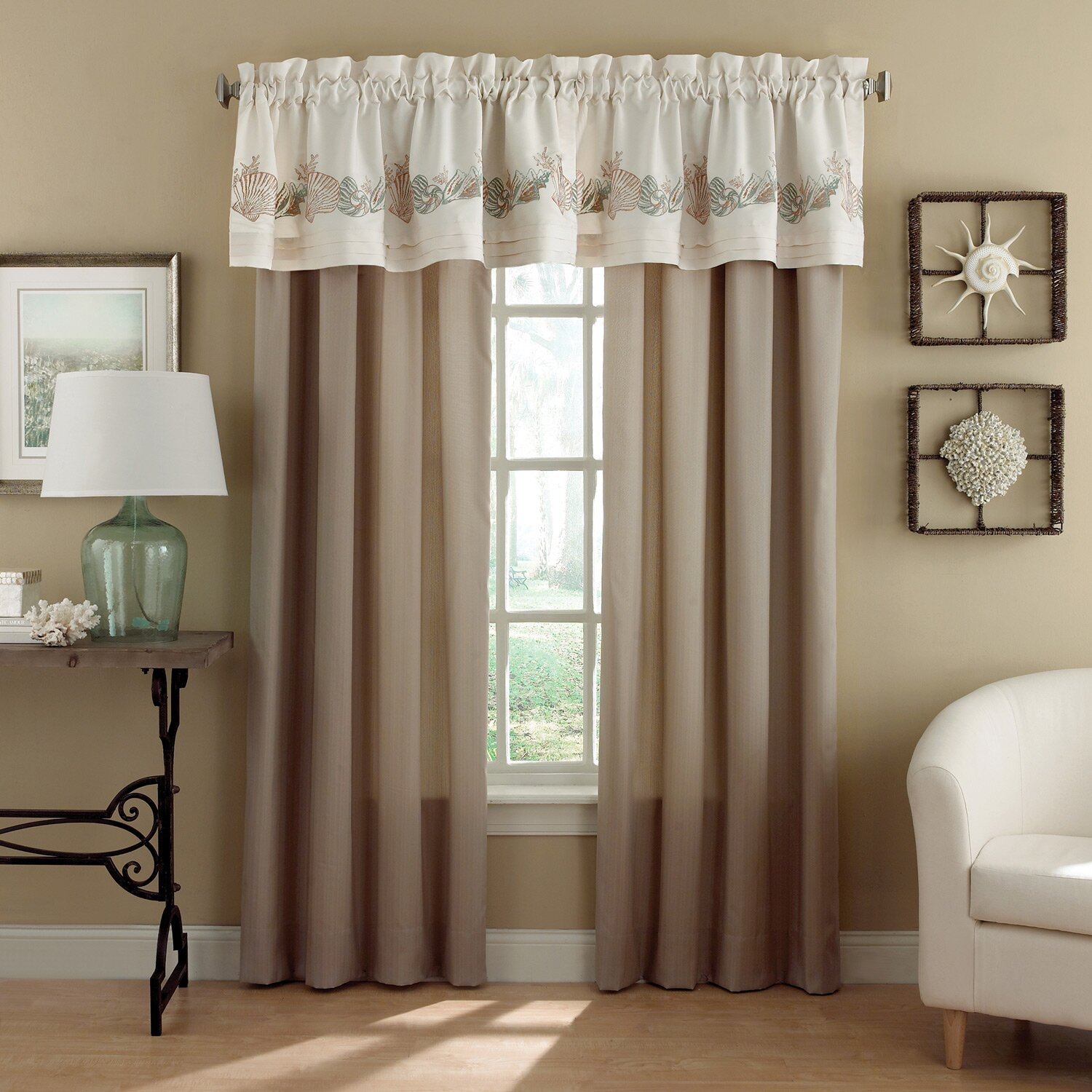 croscill seashore 54 valance reviews wayfair. Black Bedroom Furniture Sets. Home Design Ideas