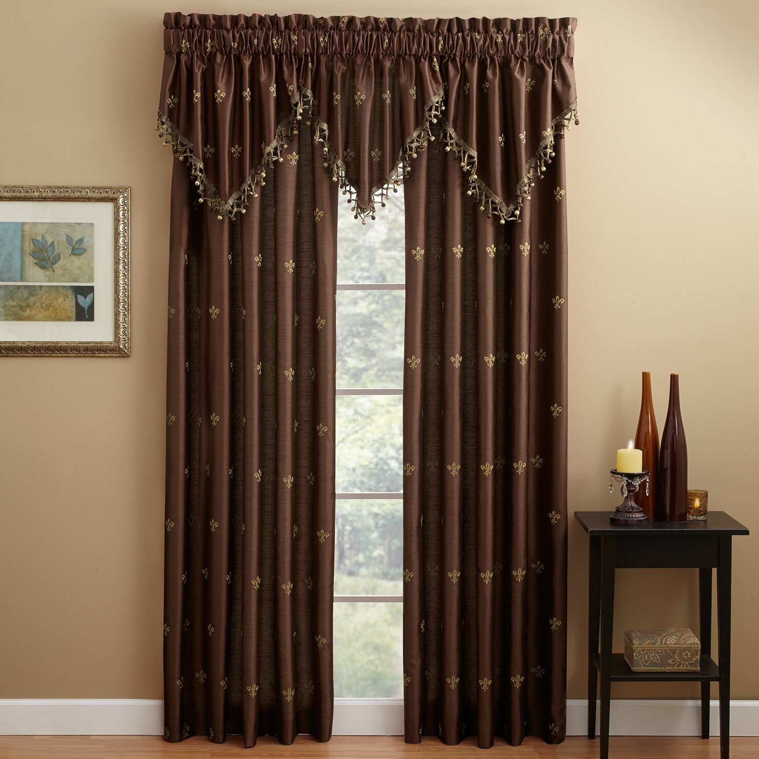 Croscill Lisa Fleur De Lis Lined Single Curtain Panel