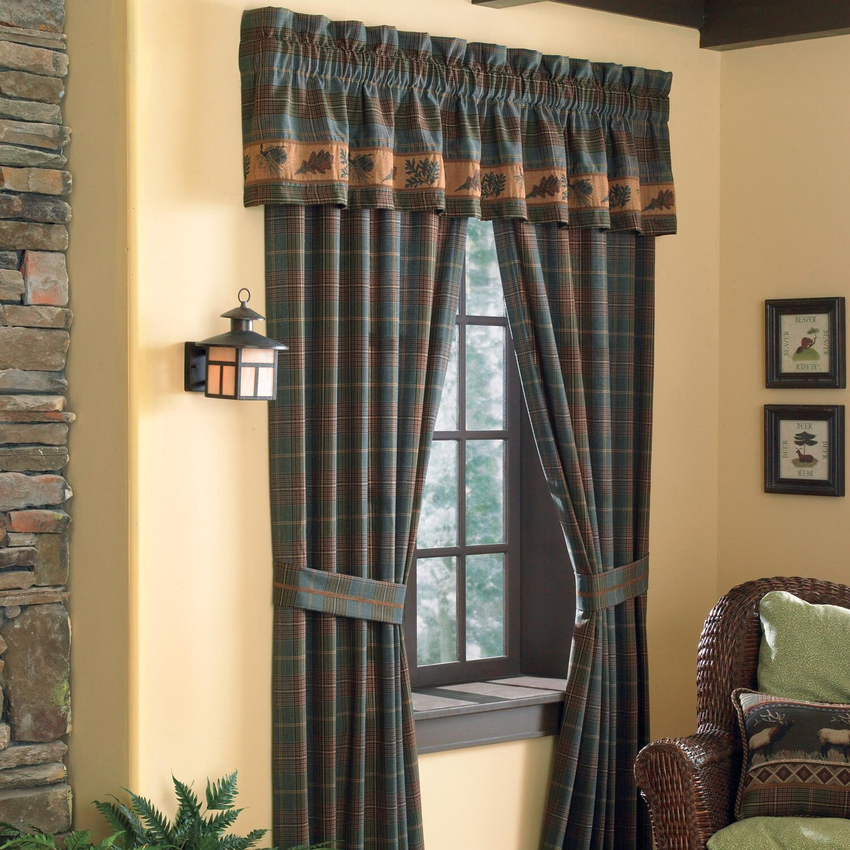 Croscill Caribou Pole Top Rod Pocket Curtain Panels