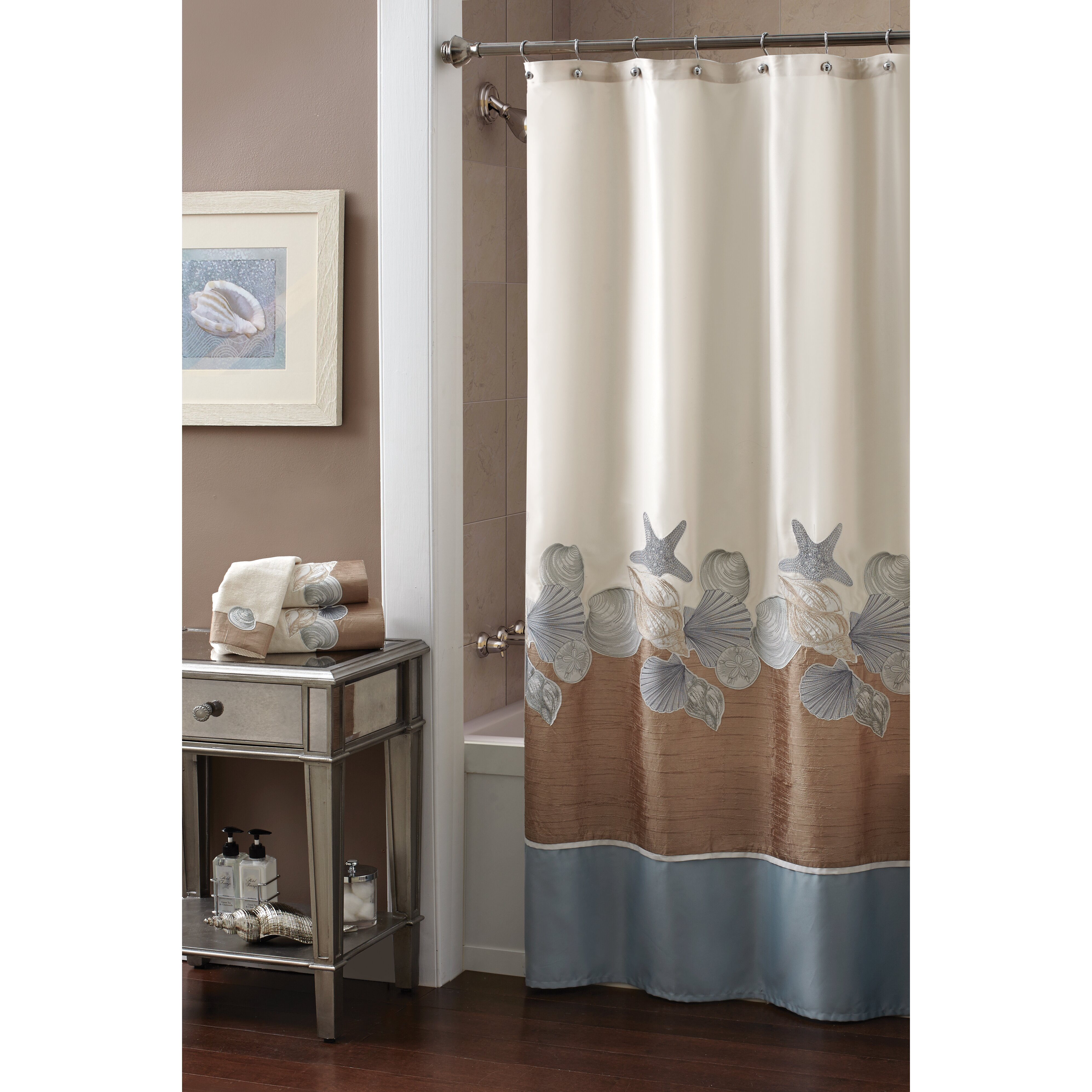 Croscill Shells Ashore Shower Curtain Amp Reviews Wayfair