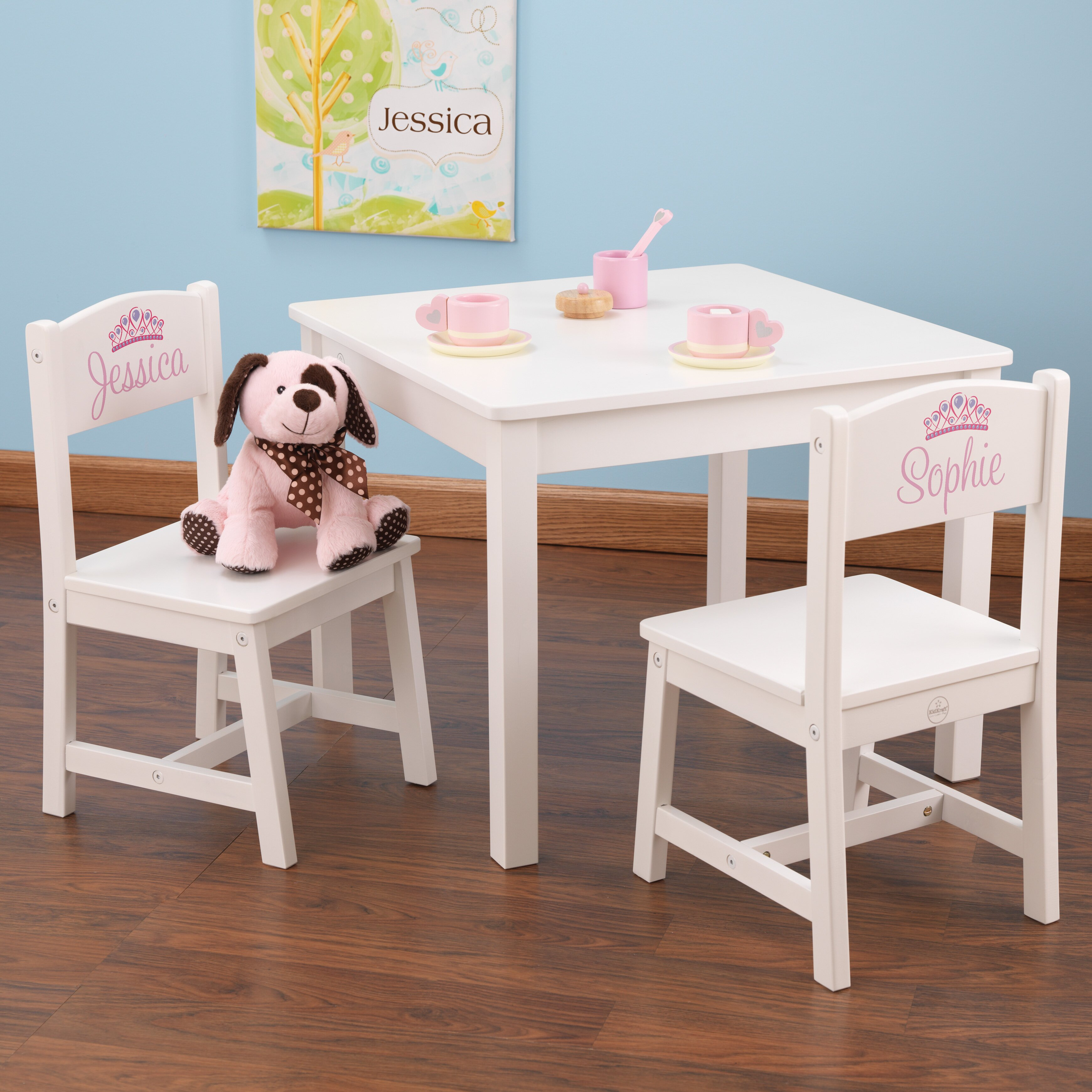 Kidkraft children 39 s 3 piece square table and chair set - Wayfair childrens bedroom furniture ...