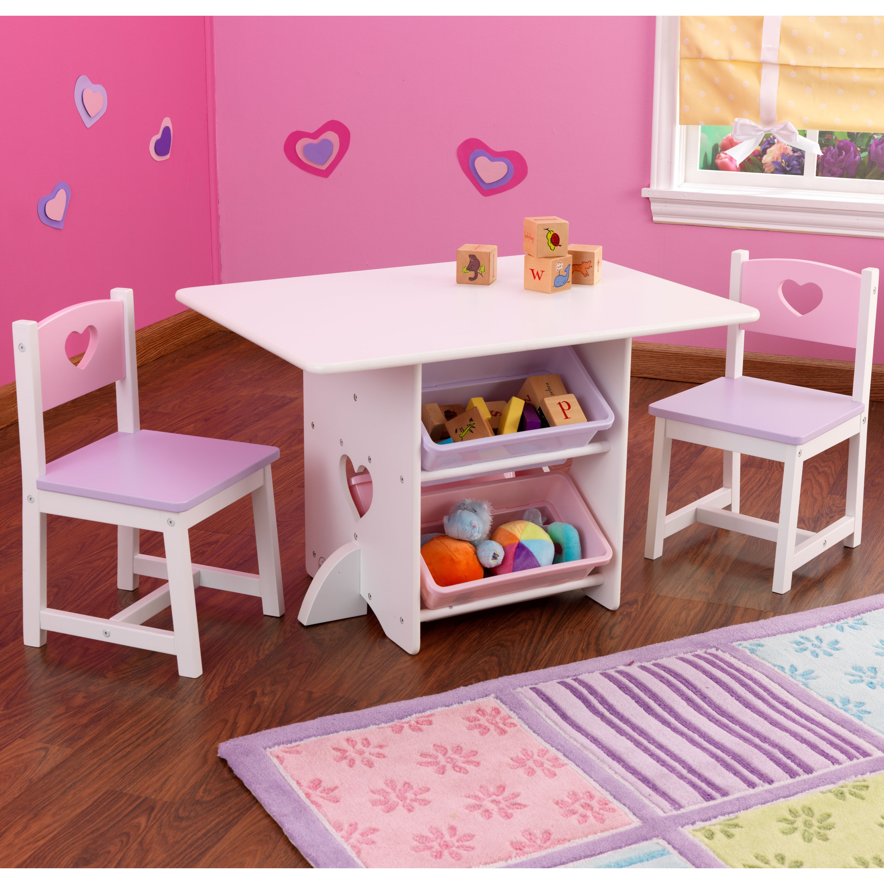 kidkraft 3 tlg kindertisch und stuhl set reviews von manufacturer. Black Bedroom Furniture Sets. Home Design Ideas