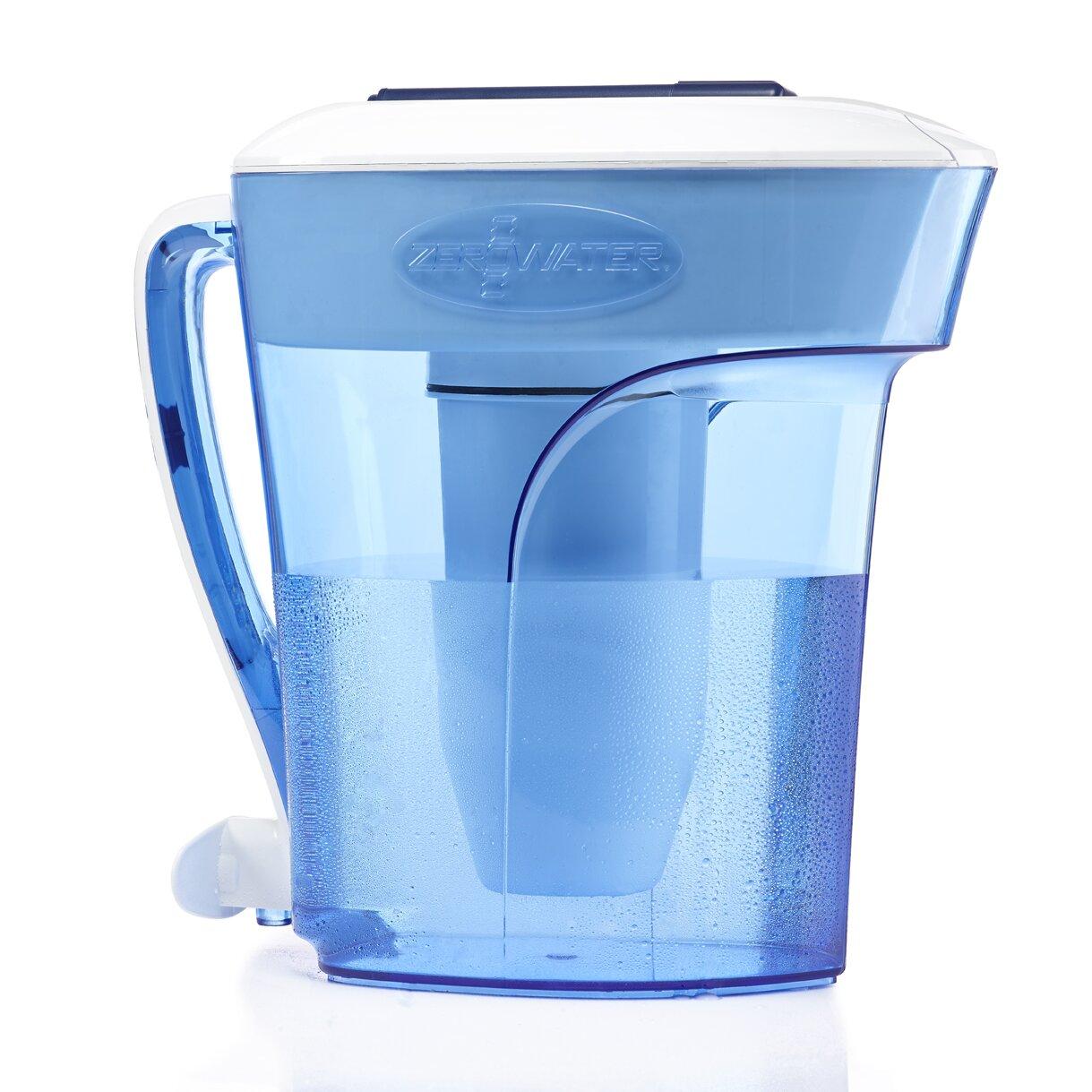 Zerowater water filter pitcher reviews wayfair - Glass filtered water pitcher ...