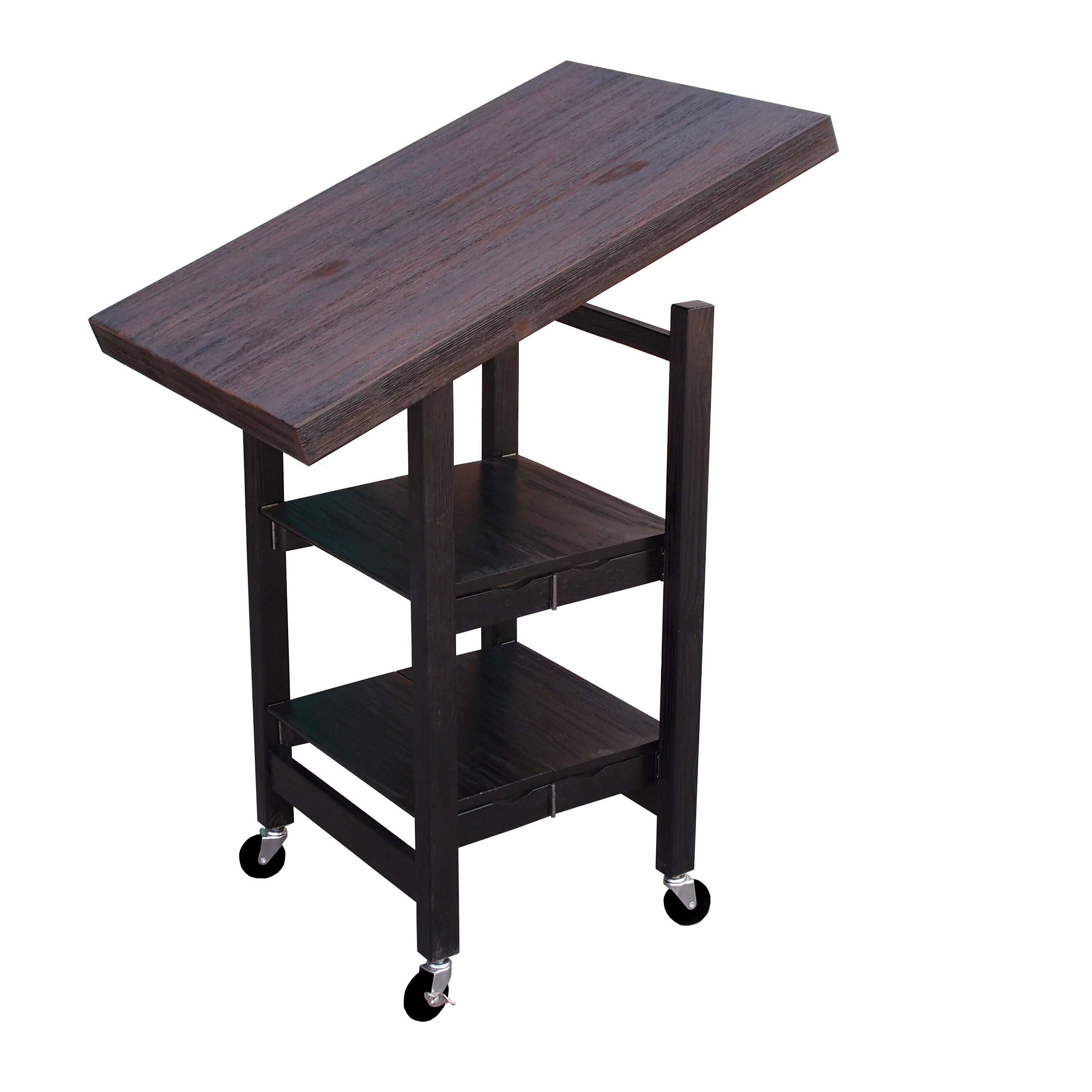 oasis island kitchen cart oasis concepts folding kitchen cart with wood top 21012