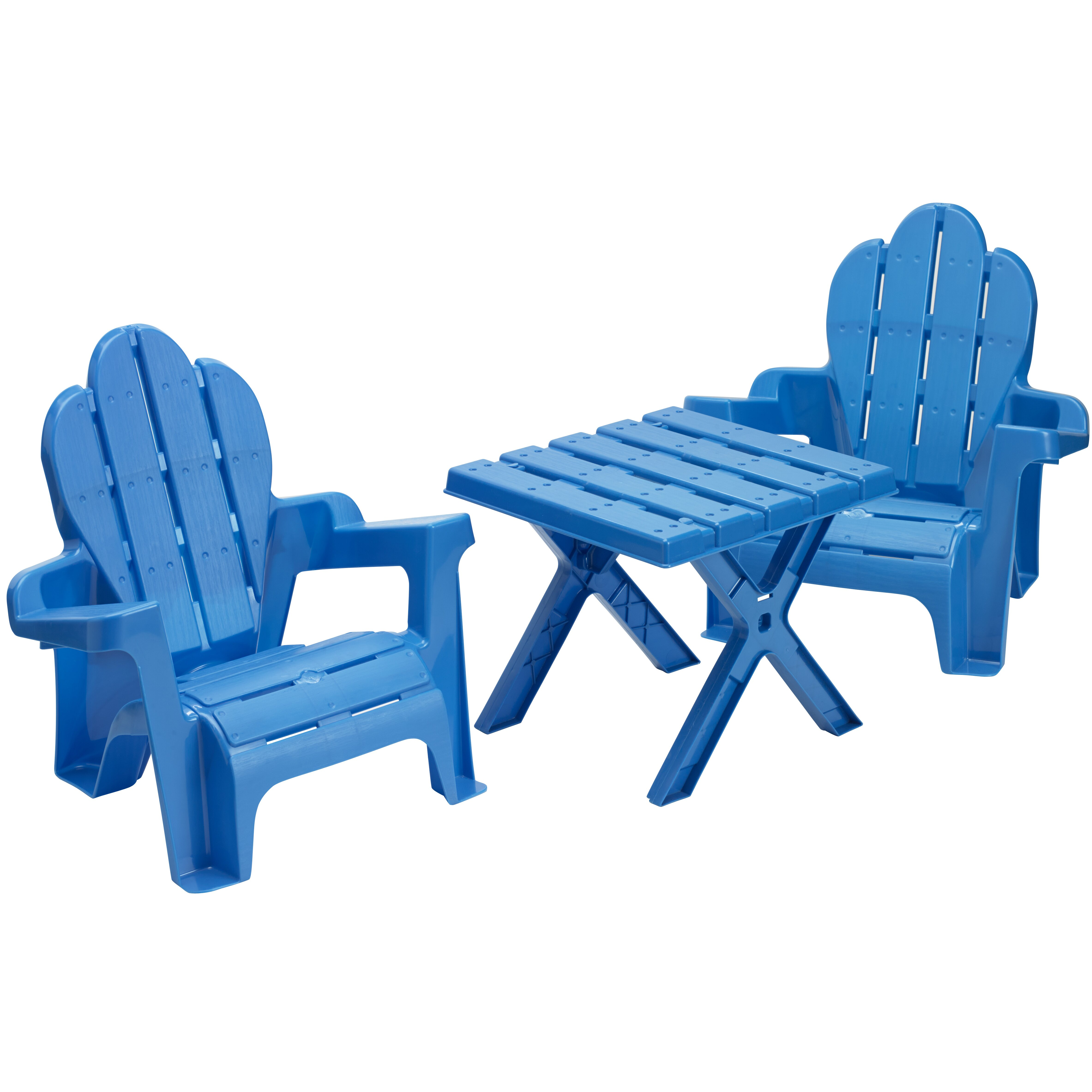 American Plastic Toys 3 Piece Adirondack Table And Chair