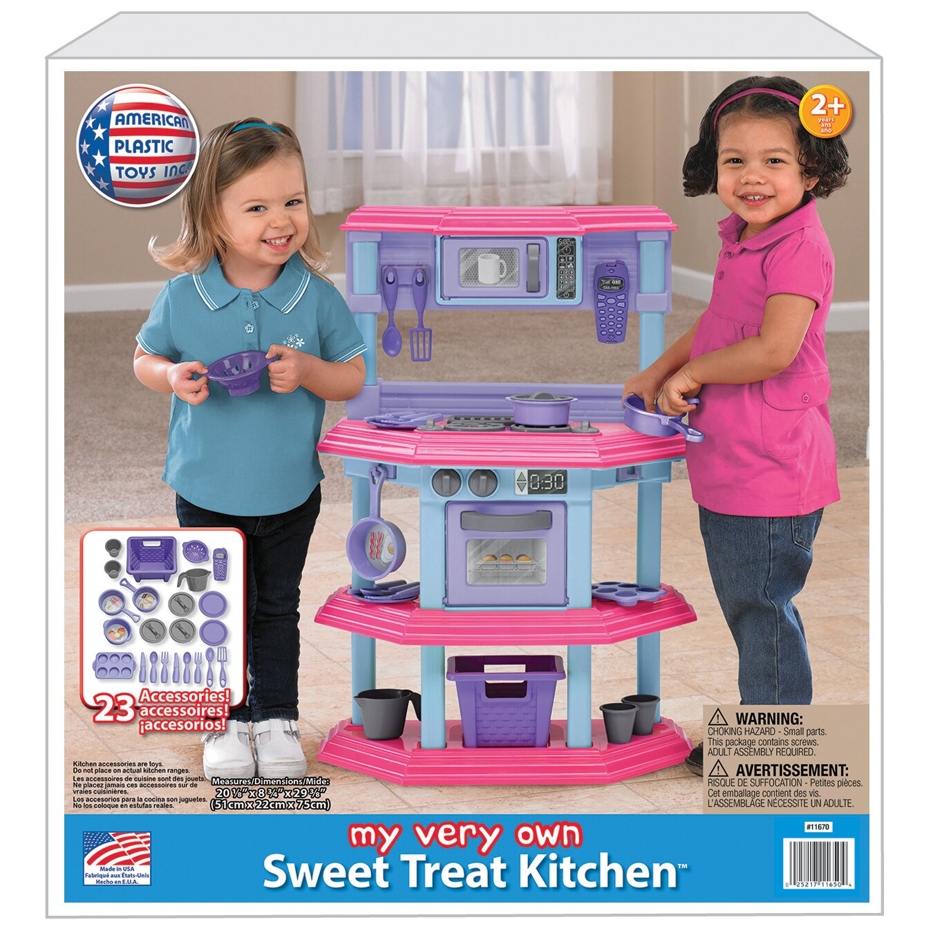 American plastic toys 23 piece my very own sweet treat for My kitchen set